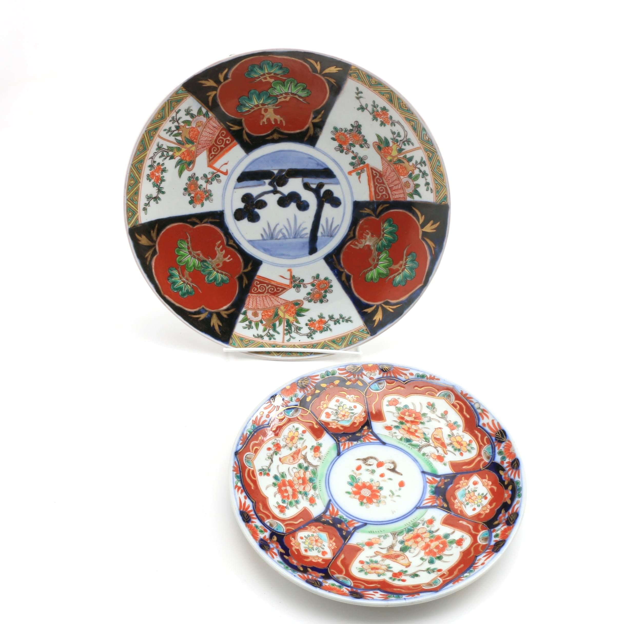 Japanese Imari Porcelain Charger and Plate