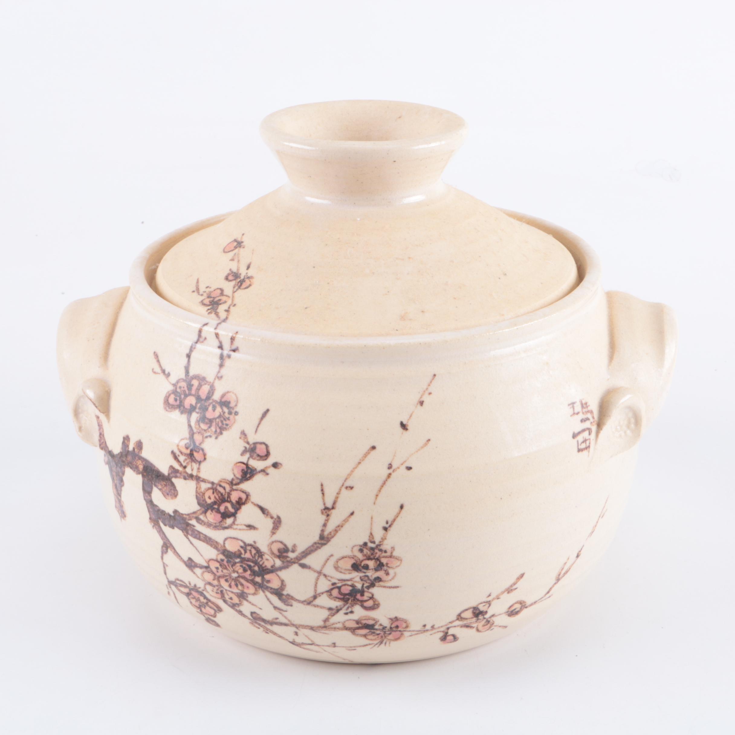 Lidded Pottery Dish