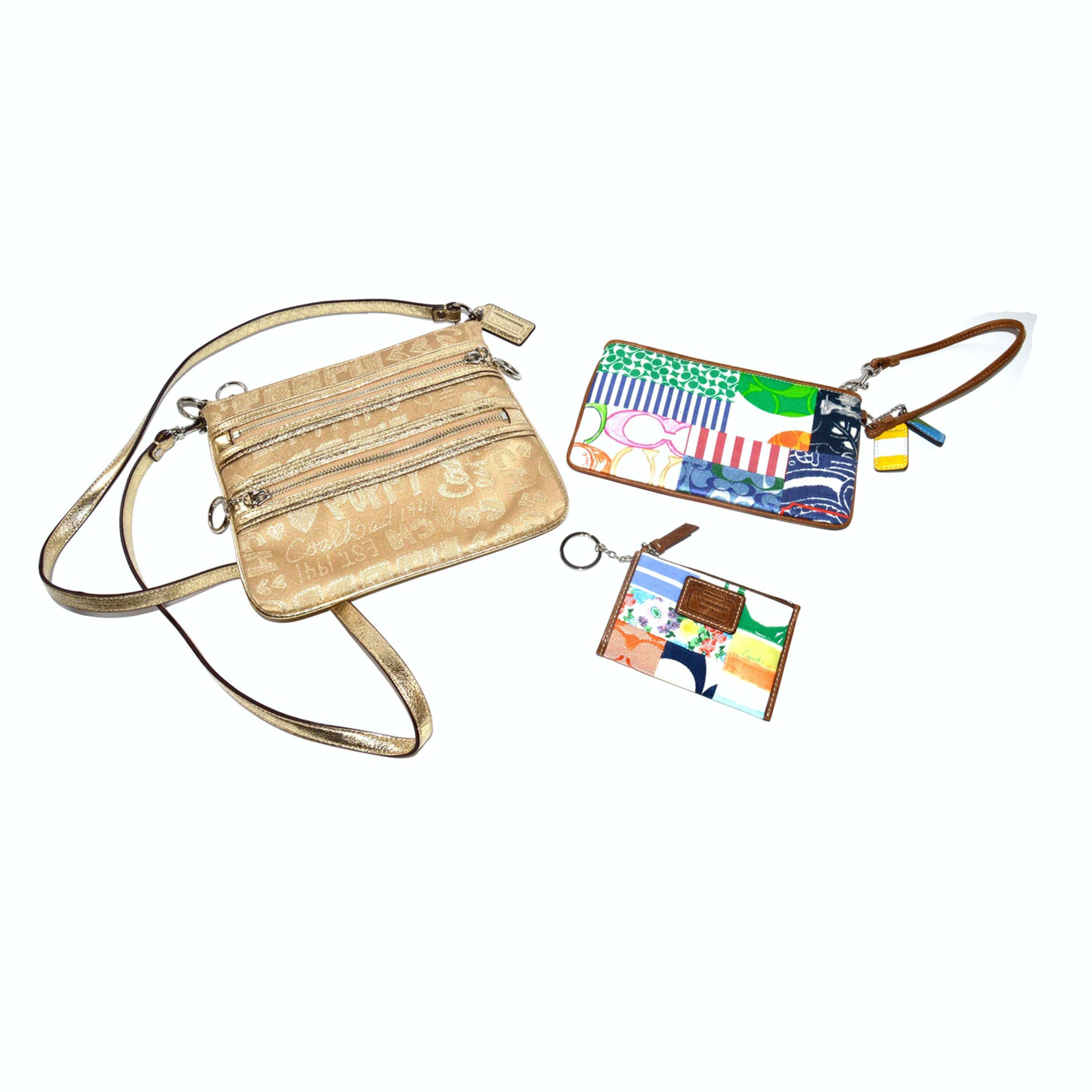 Coach Side Pack, Wristlet and Wallet