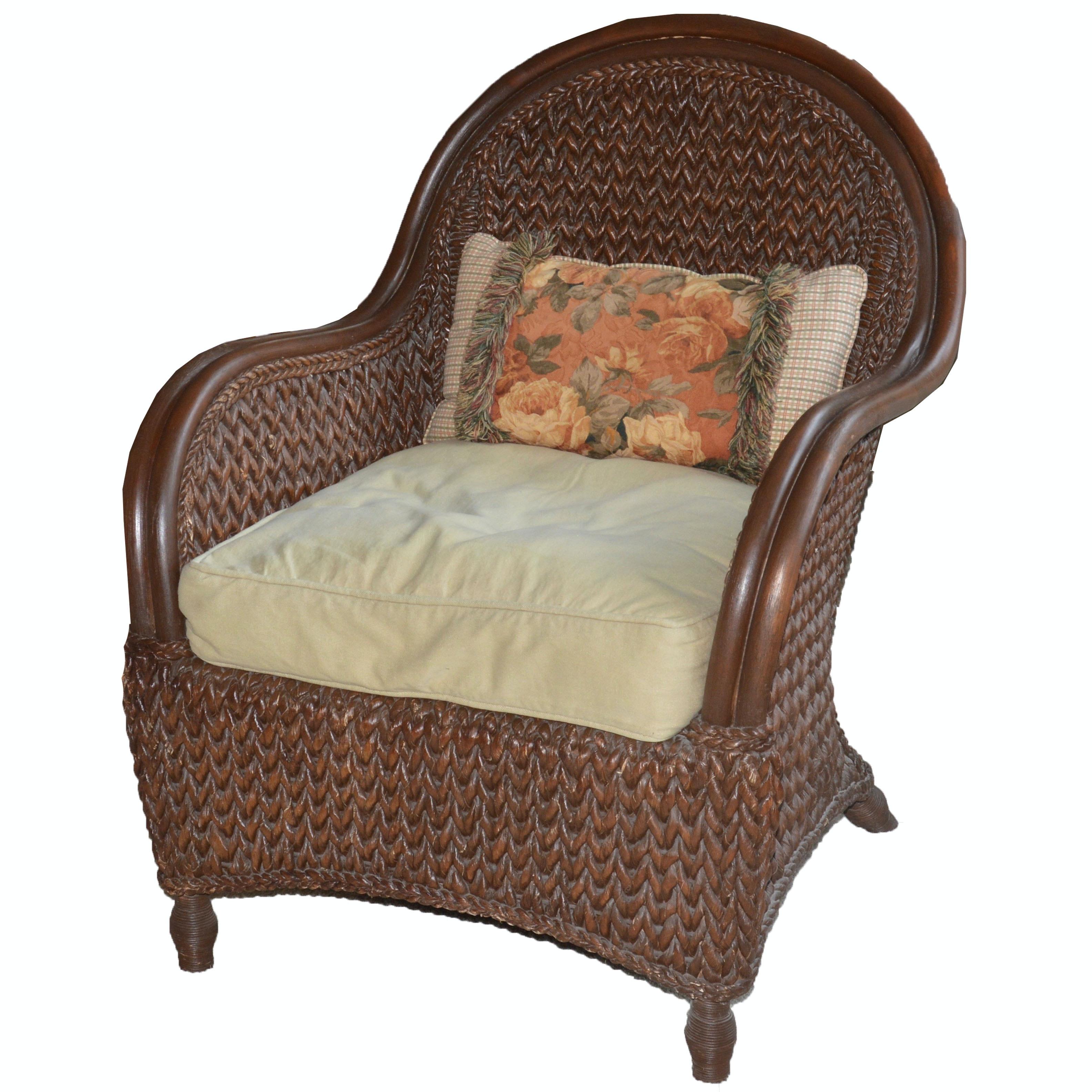 Brown Wicker Patio Armchair