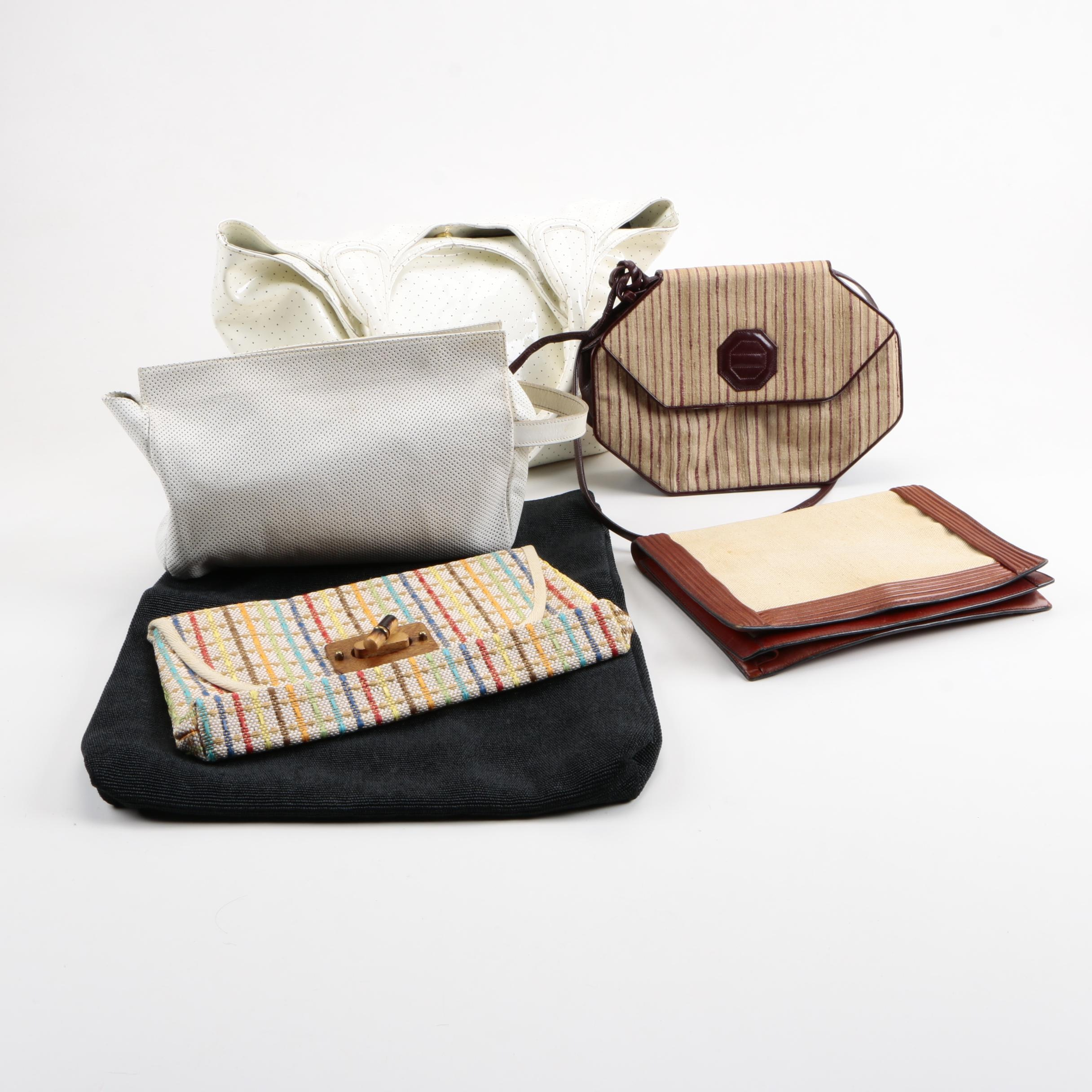 Collection of Handbags and Clutches Including Barneys New York and DKNY