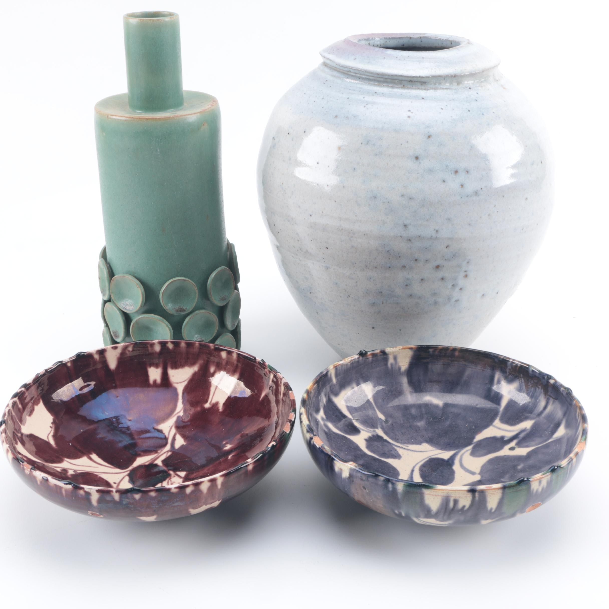 Hand Thrown Stoneware Vessels Including Oaxaca