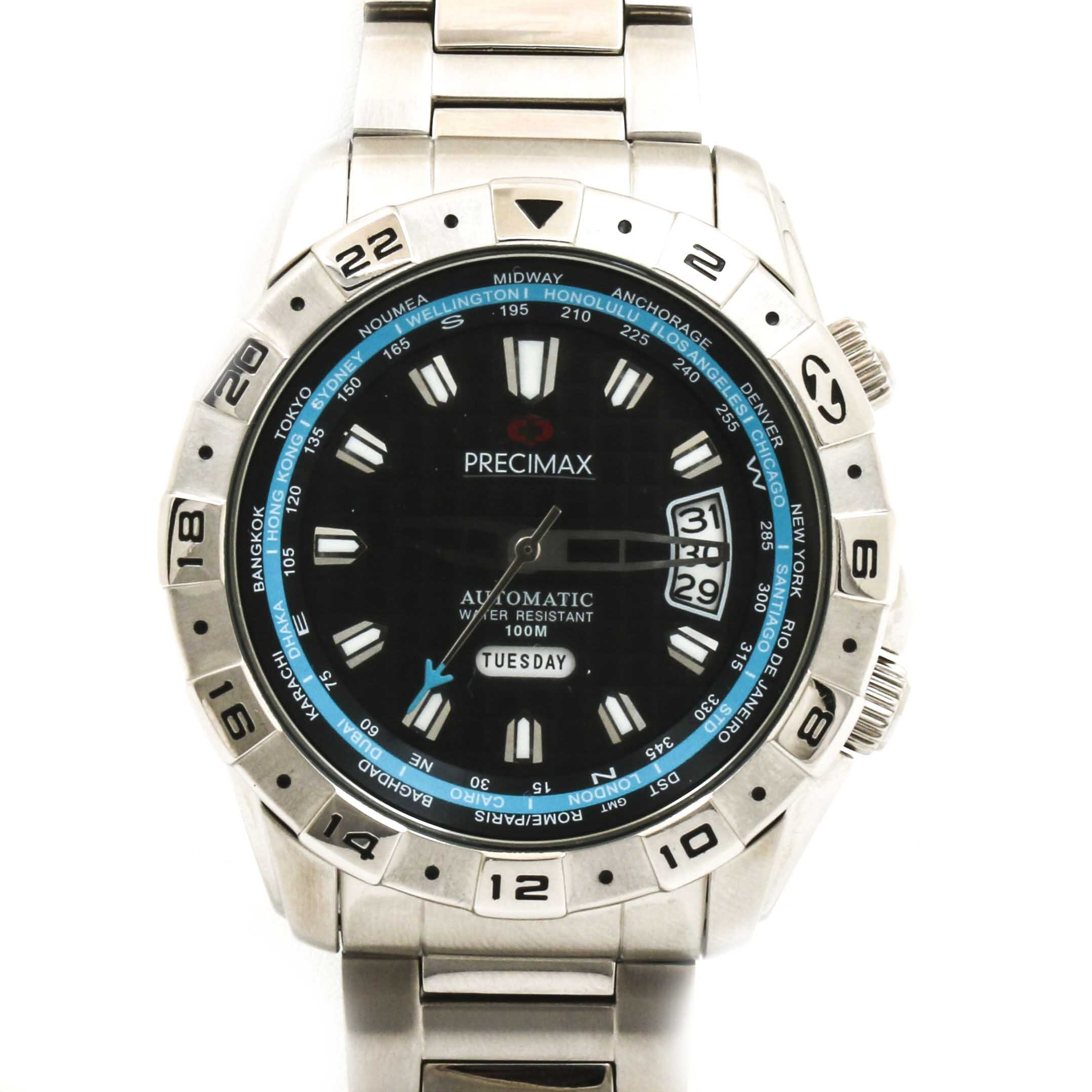 Precimax Stainless Steel Wristwatch