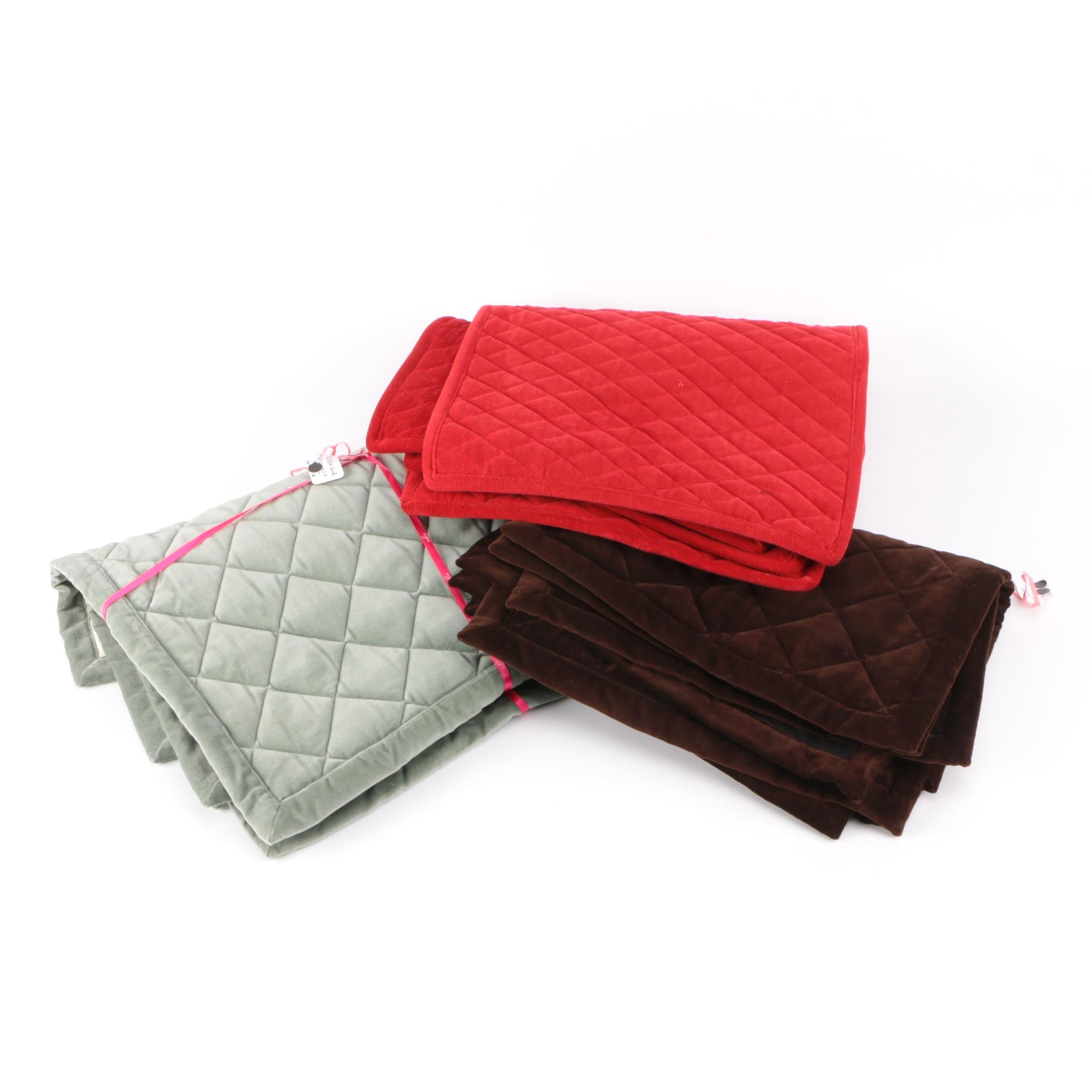 Quilted Velvet and Corduroy Placemats by Juliska and Ann Gish