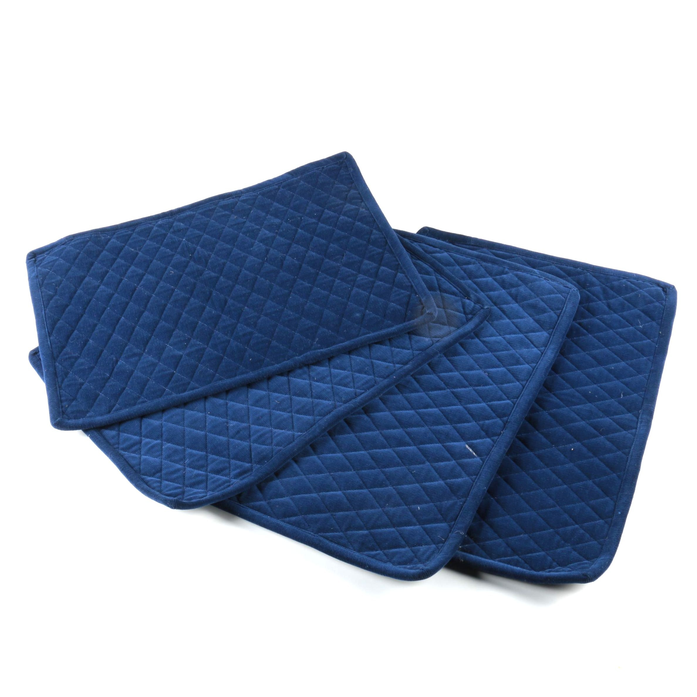 Set of Quilted Corduroy Placemats by Juliska
