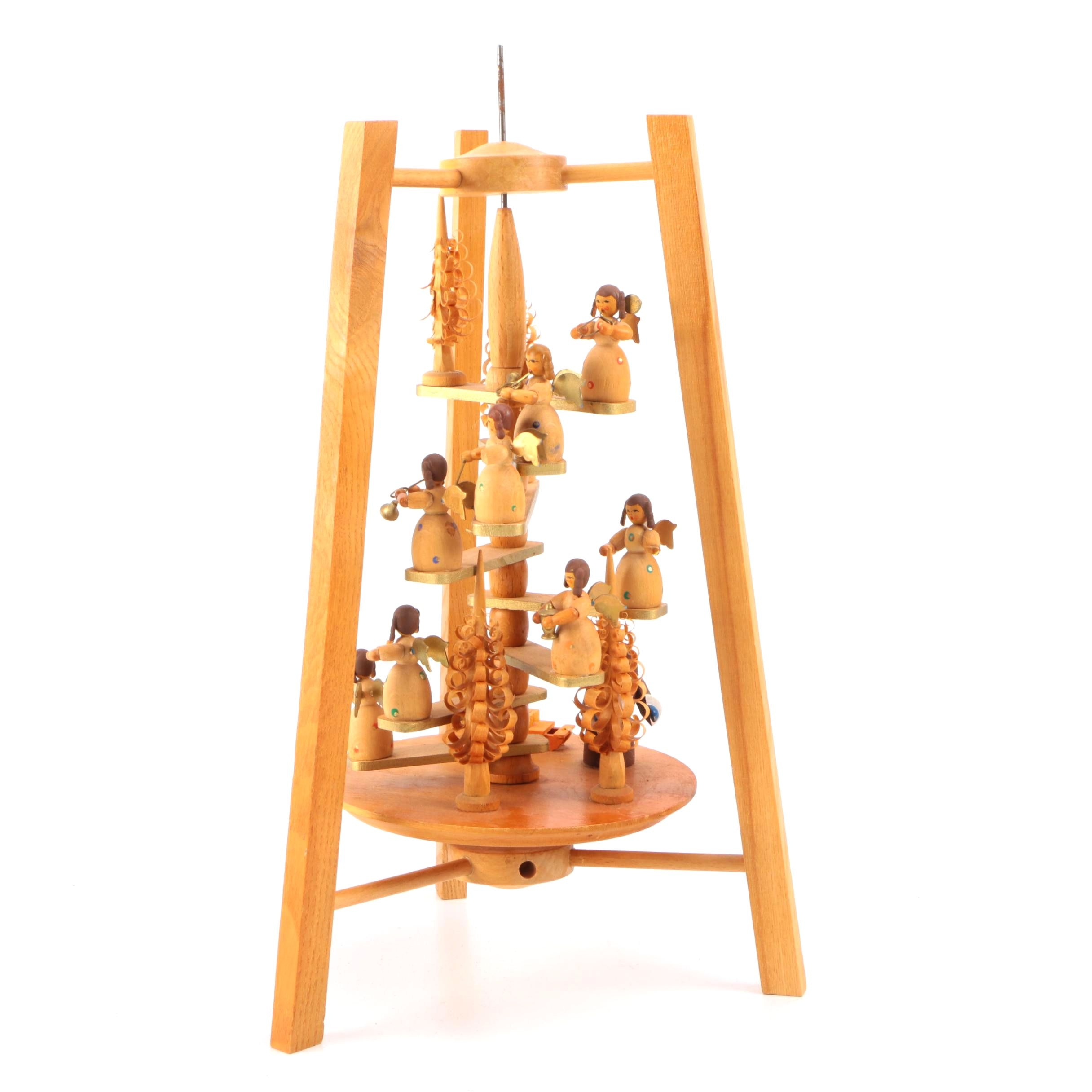 Wooden Carved Angelic Orchestra Carousel