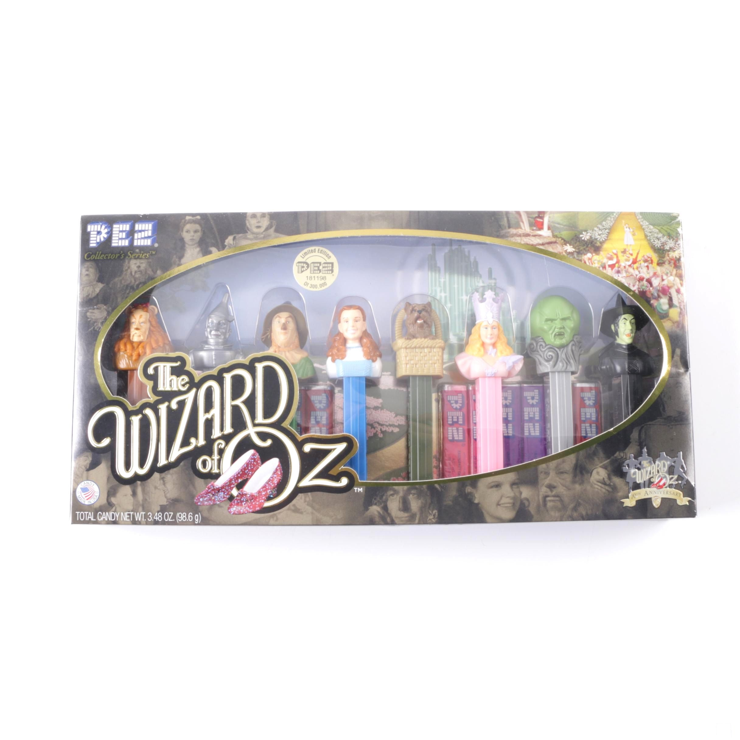 """Limited Edition """"The Wizard of OZ"""" Character PEZ Dispenser Set"""