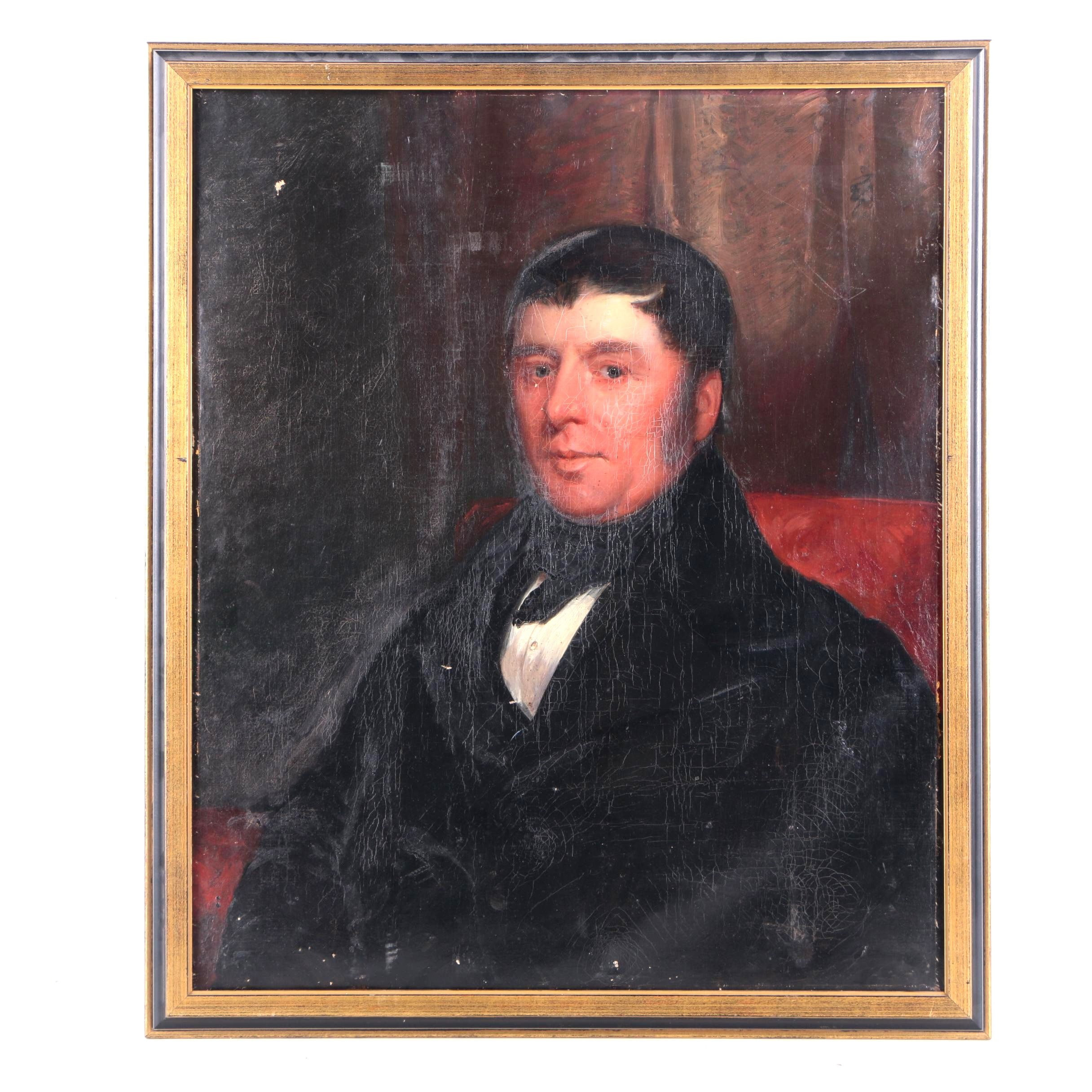 Wm. Poole Sheffield Oil Portrait of Joseph Shepperson