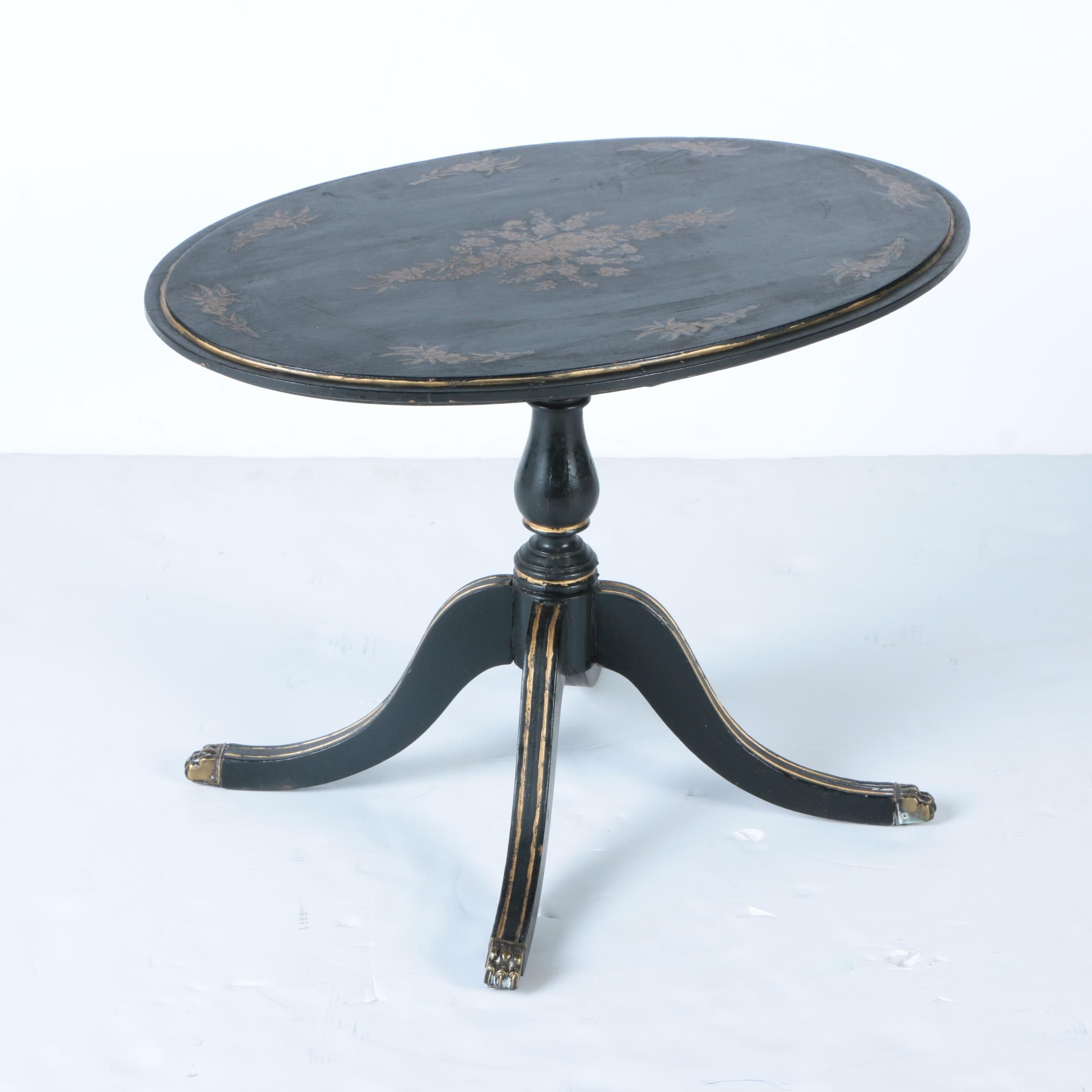 Small Oval Wooden Side Table