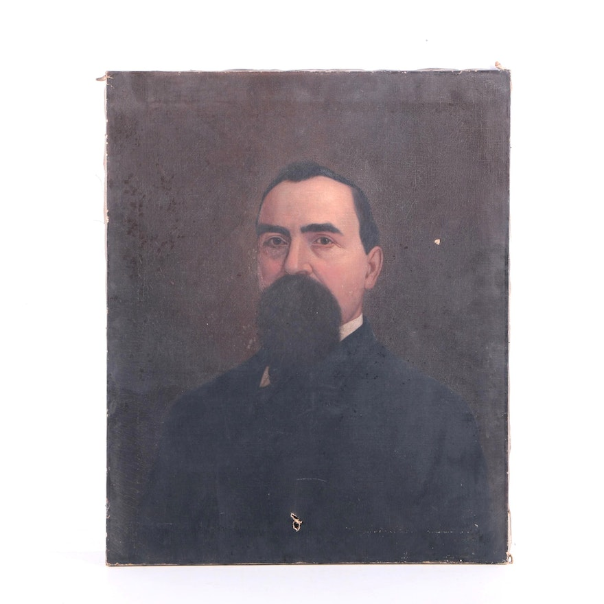 Oil Painting on Canvas Portrait of a Gentleman