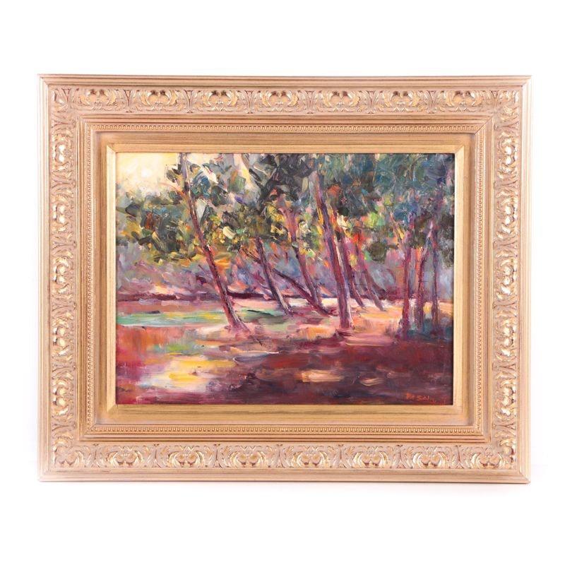 "Pat Siddiq Oil Painting on Canvas ""Broad Ripple"""