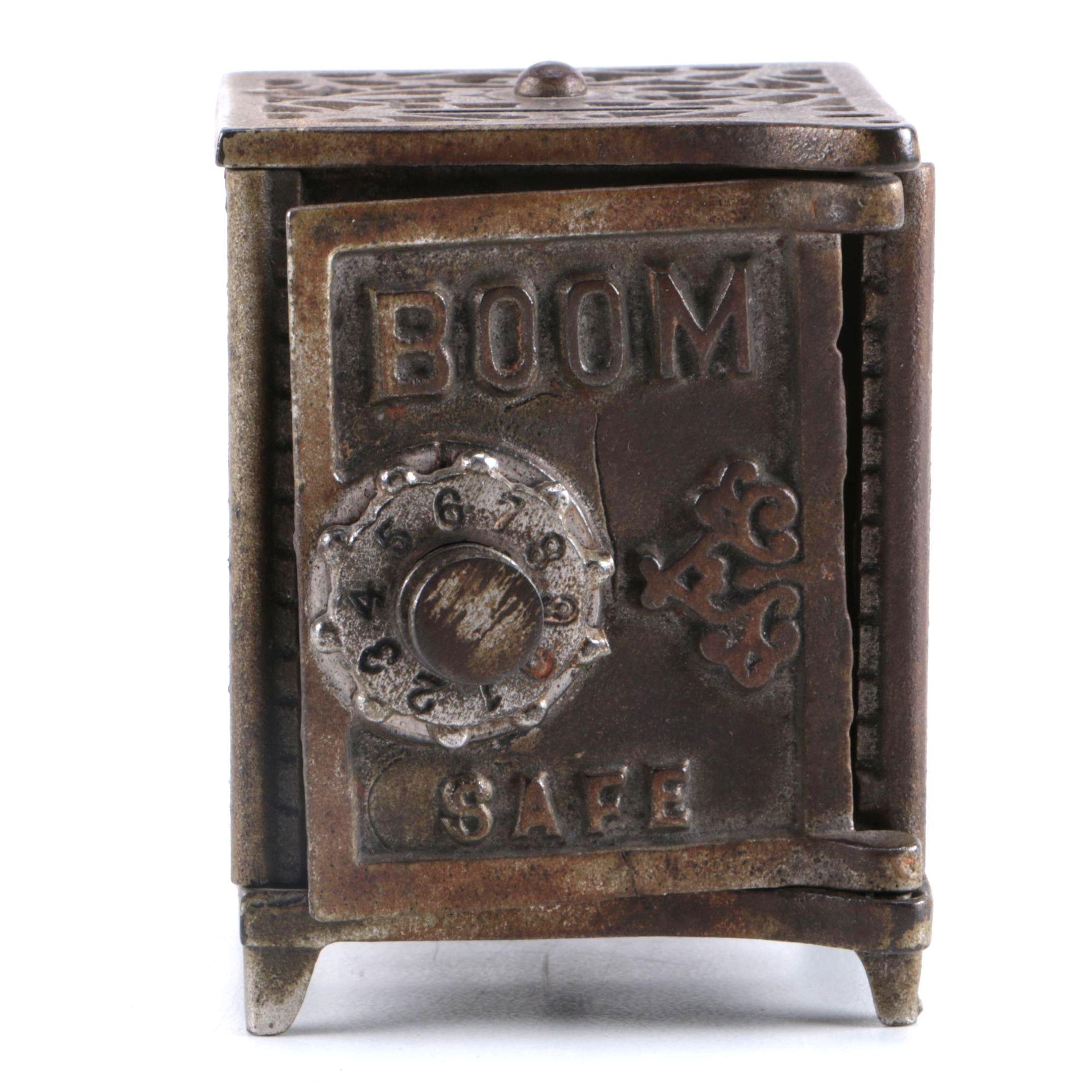 """Cast Iron Kenton """"Boom Safe"""" Coin Bank"""