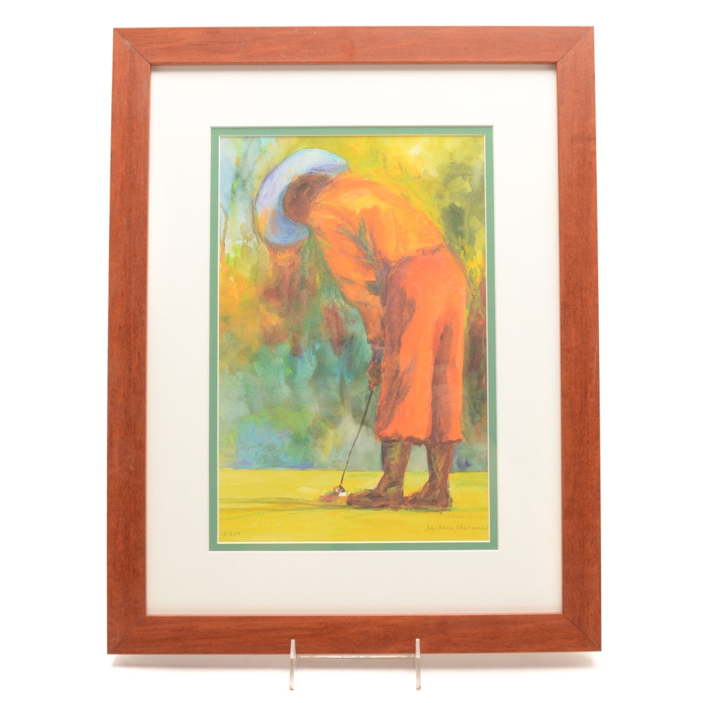 "Barbara Chenault Limited Edition Giclée ""Just Puttin' Around"""
