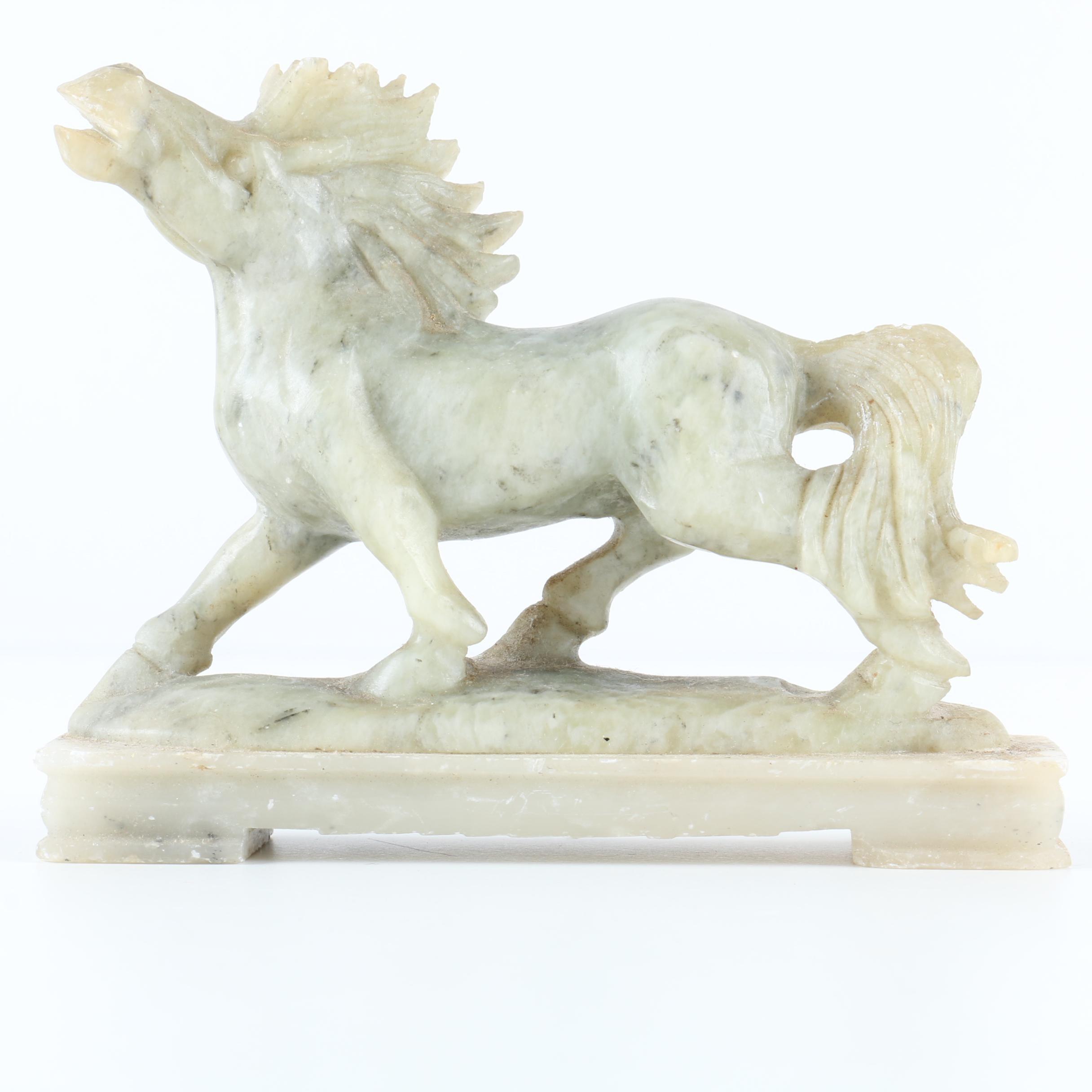 Soapstone Horse Figurine