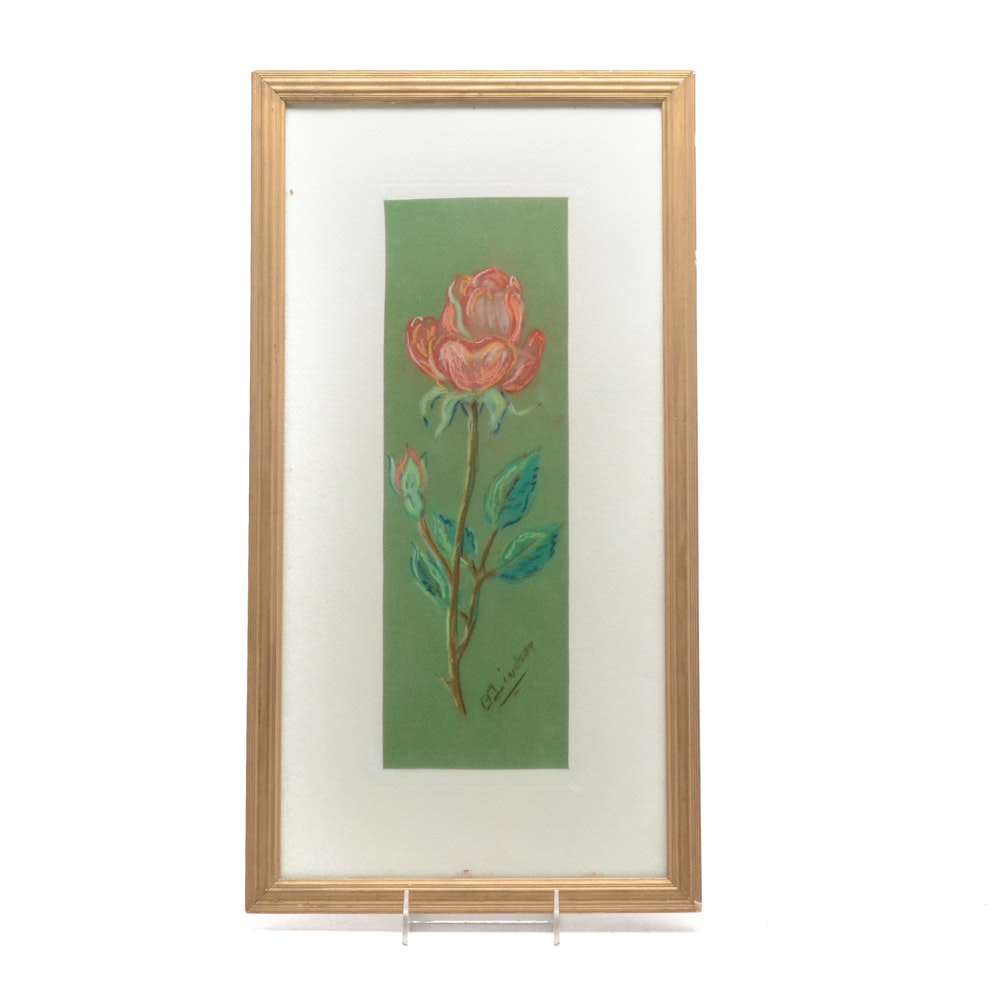 Pastel Drawing of a Rose