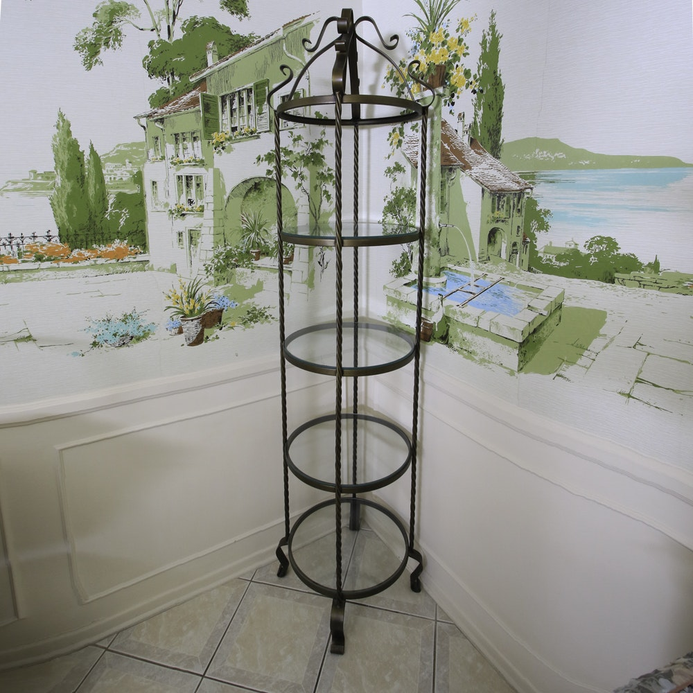 Metal Cage Style Shelf Unit