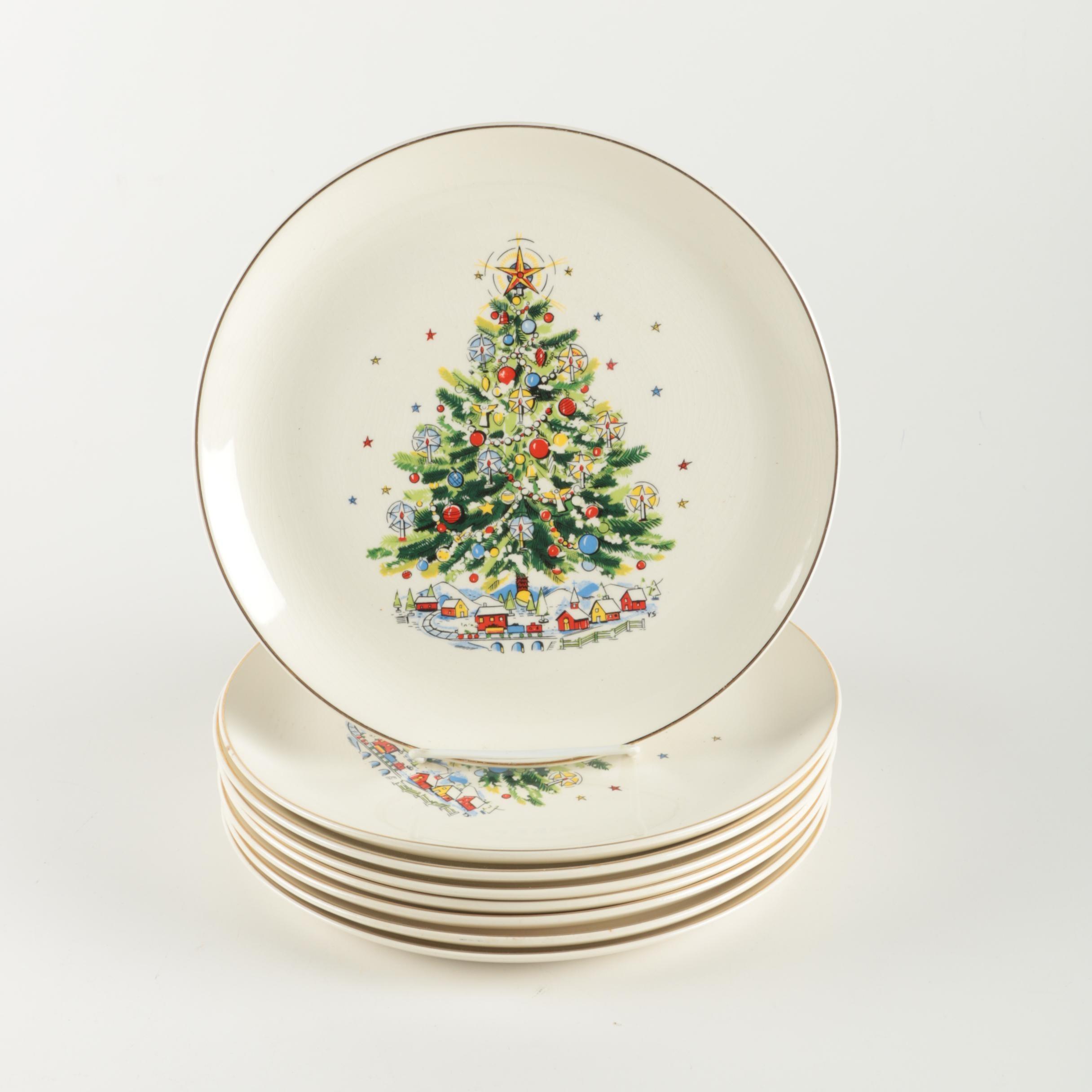 Salem  Christmas Eve  Ceramic Plates ...  sc 1 st  EBTH.com & Salem
