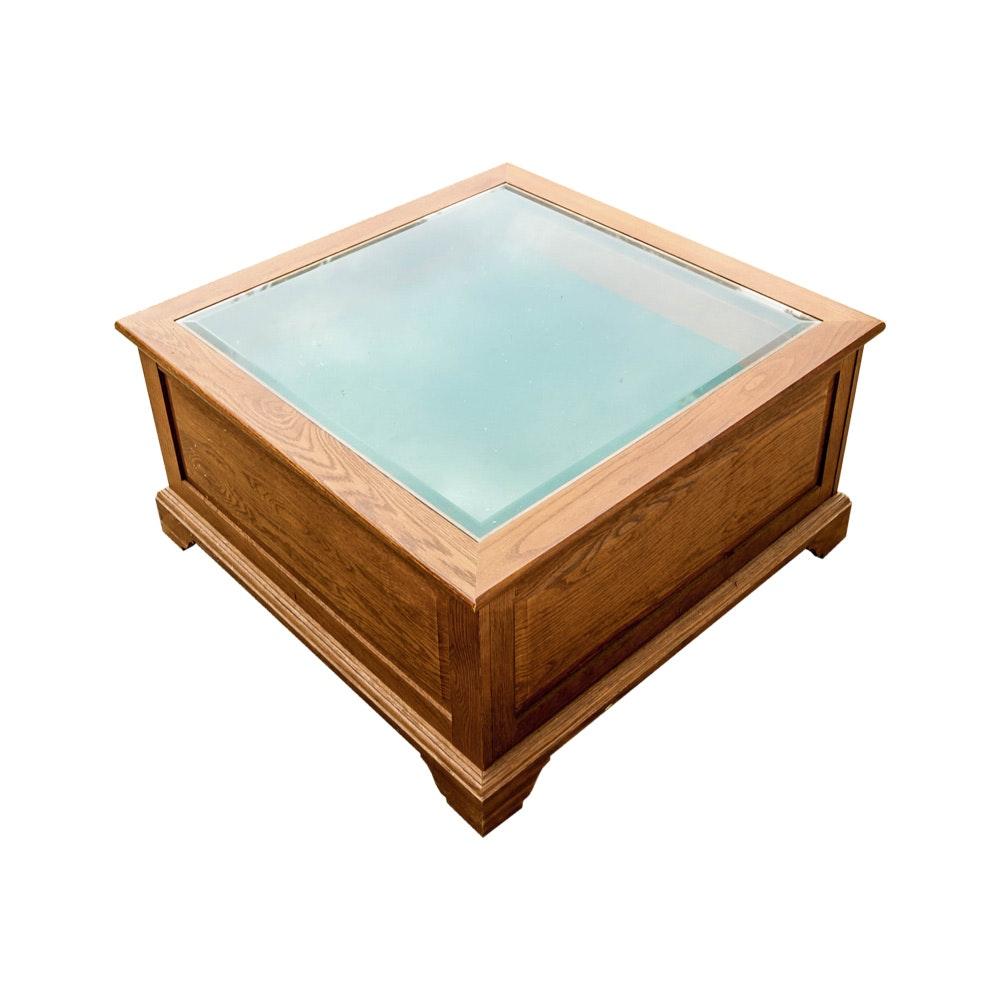 Glass Top Display Coffee Table