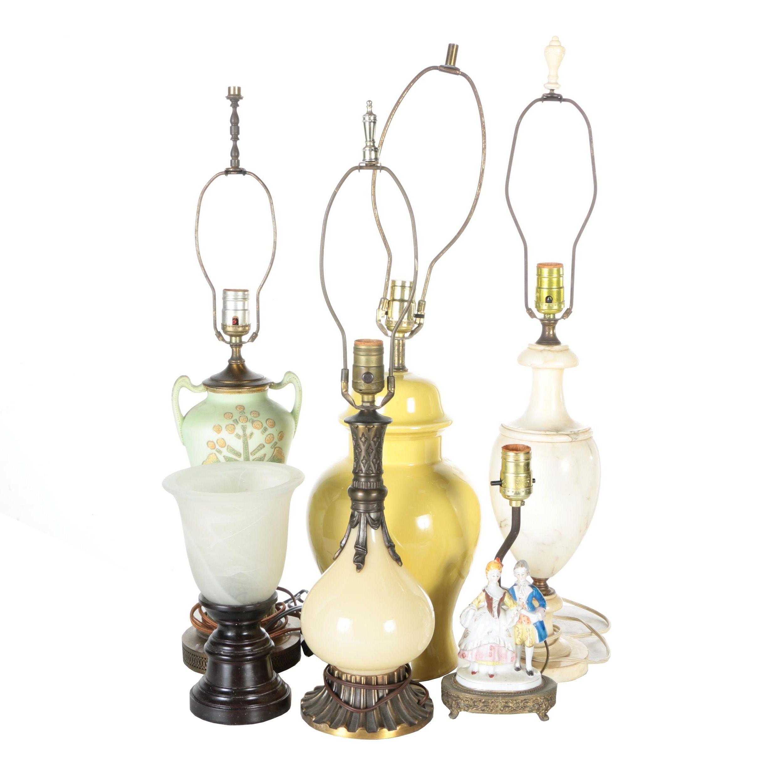 Metal and Ceramic Table Lamps