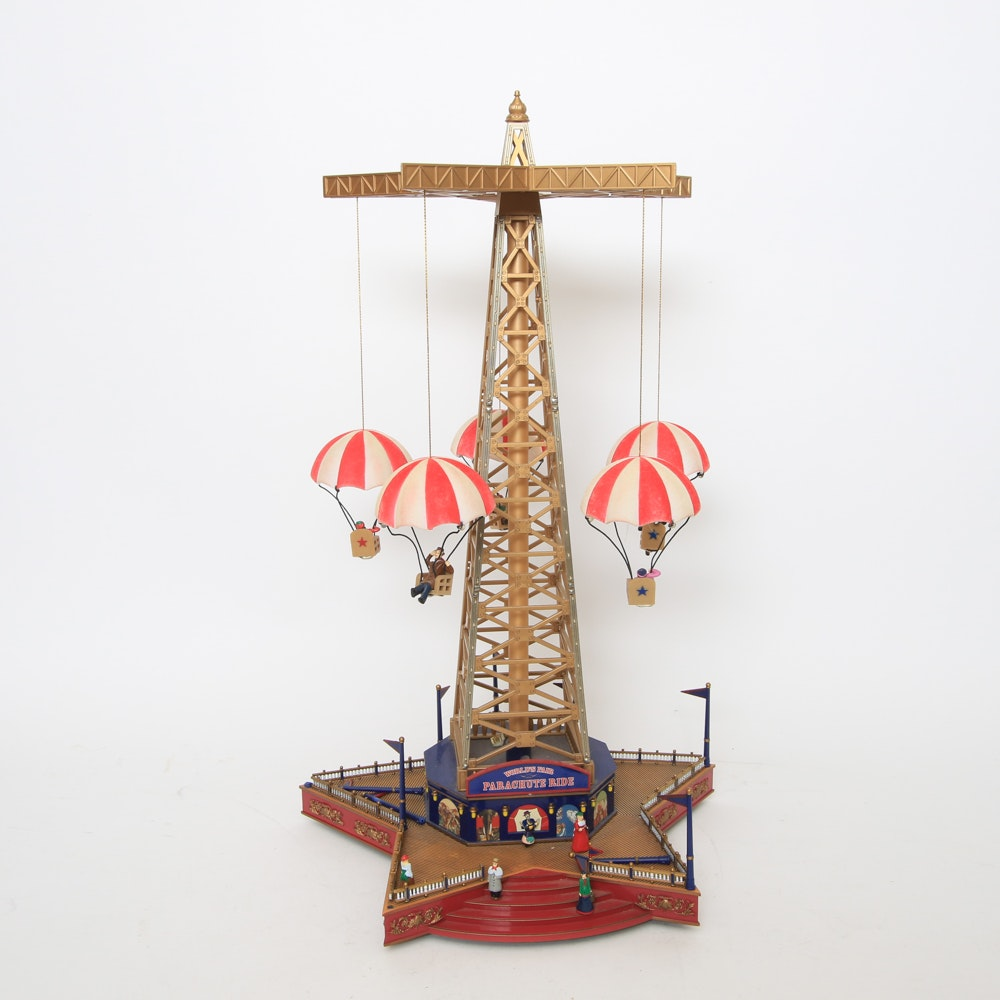 "Mr. Christmas ""World's Fair Parachute Ride"" Model Music Box"