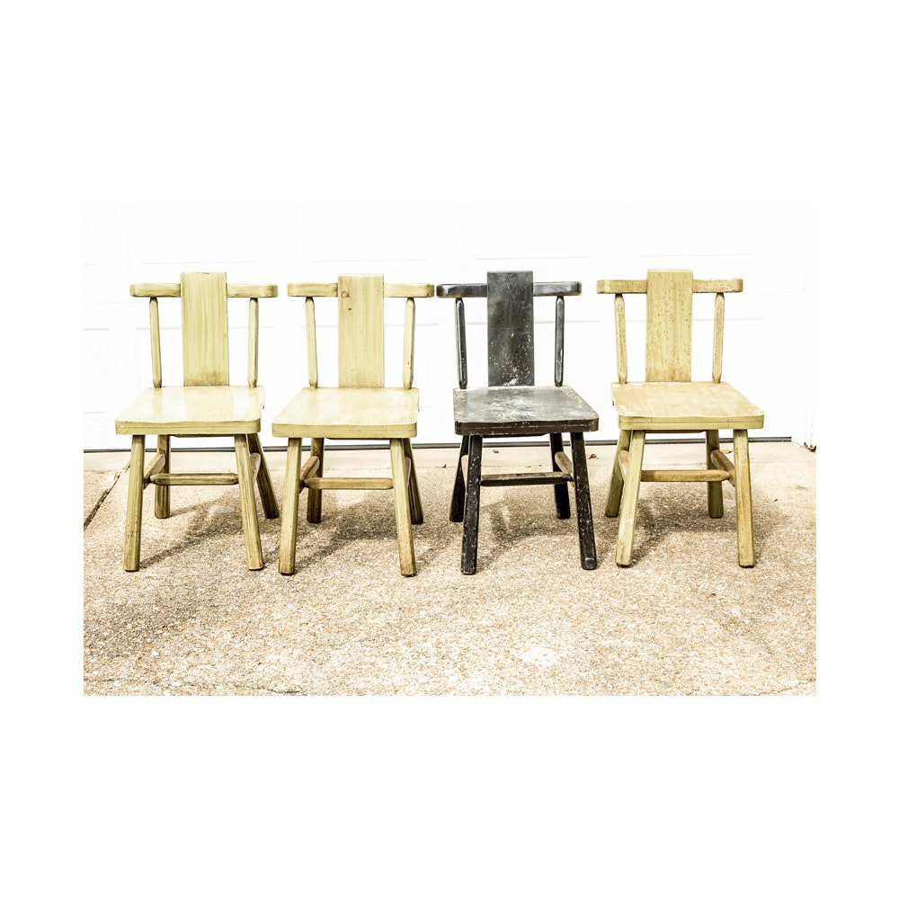 Set of Vintage Farmhouse Style Chairs