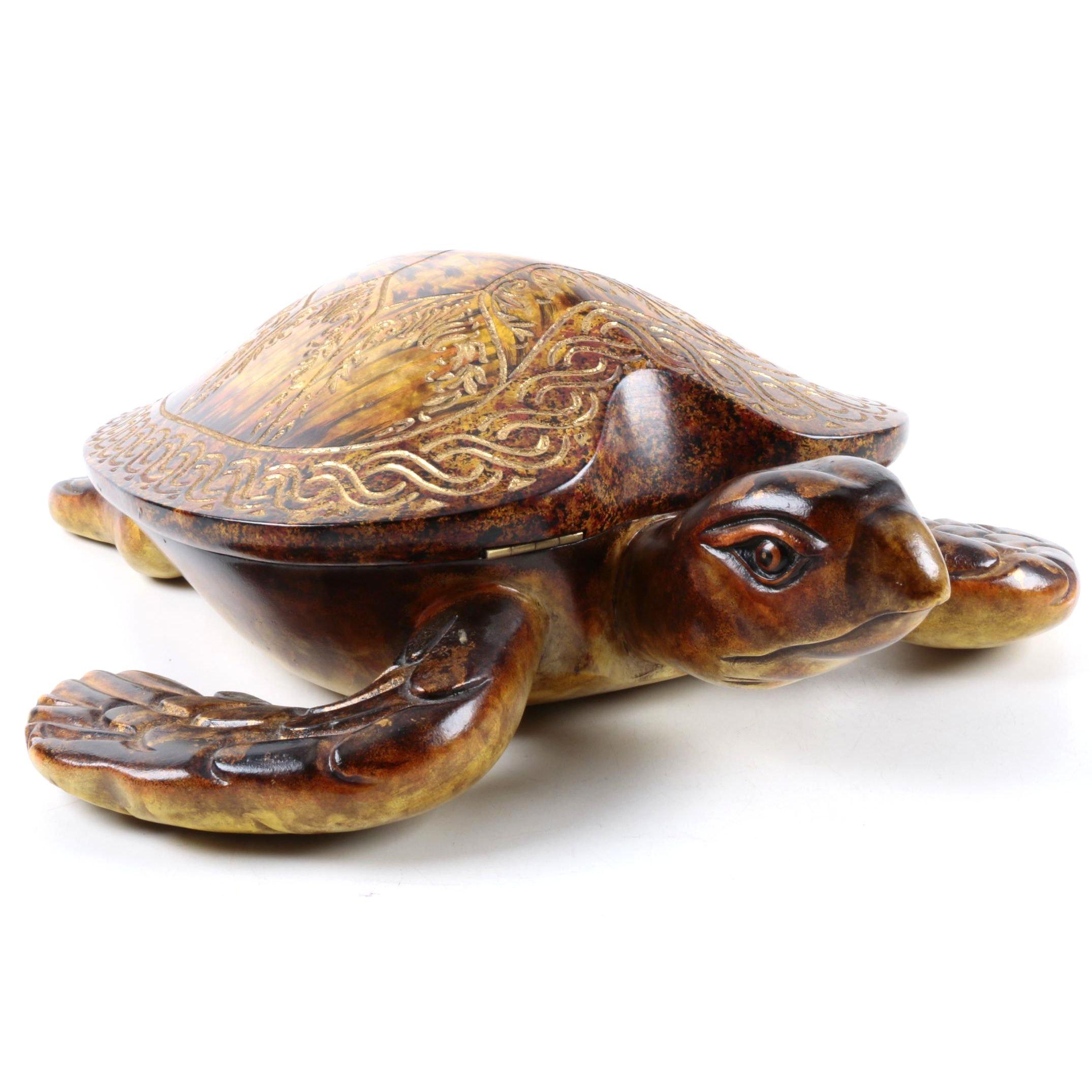 Castilian Wooden Turtle Box