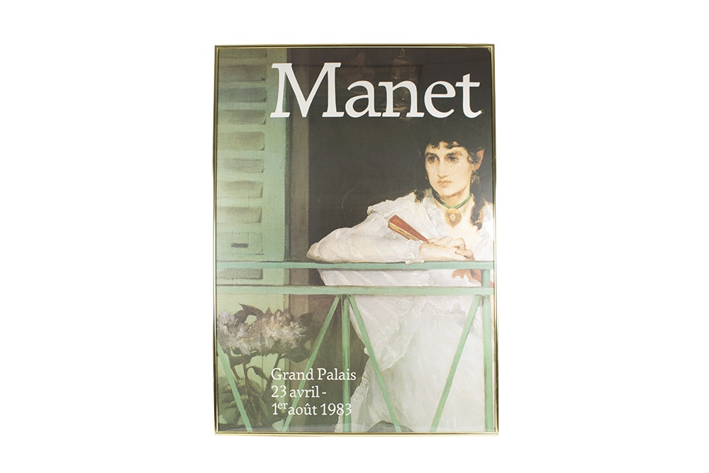 """Offset Lithograph Poster After Manet's """"Le Balcon"""""""