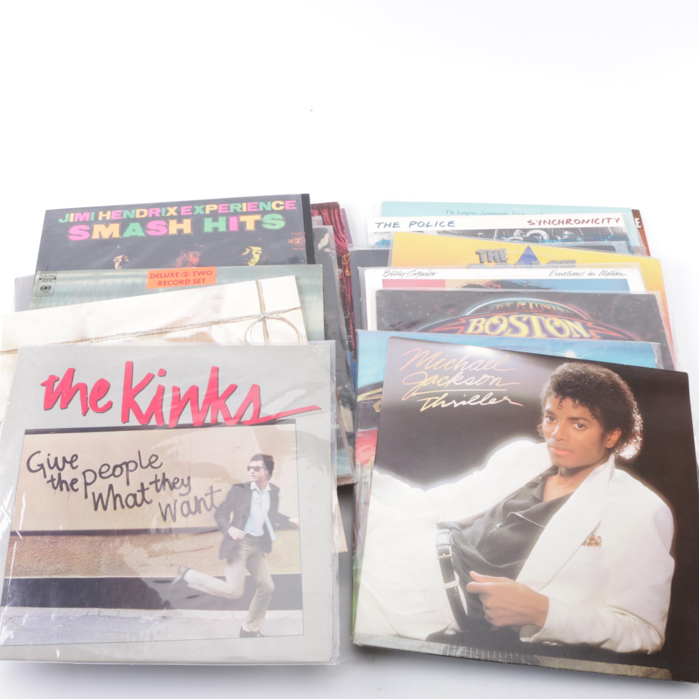 Kinks, Michael Jackson, Hendrix and Other LPs