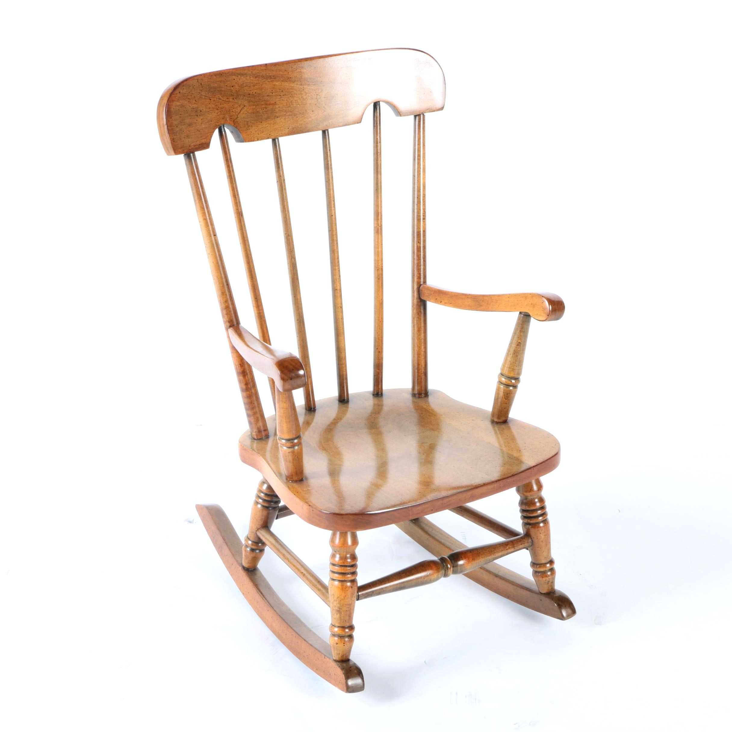 Vintage Spindle Back Rocking Chair by Virginia House