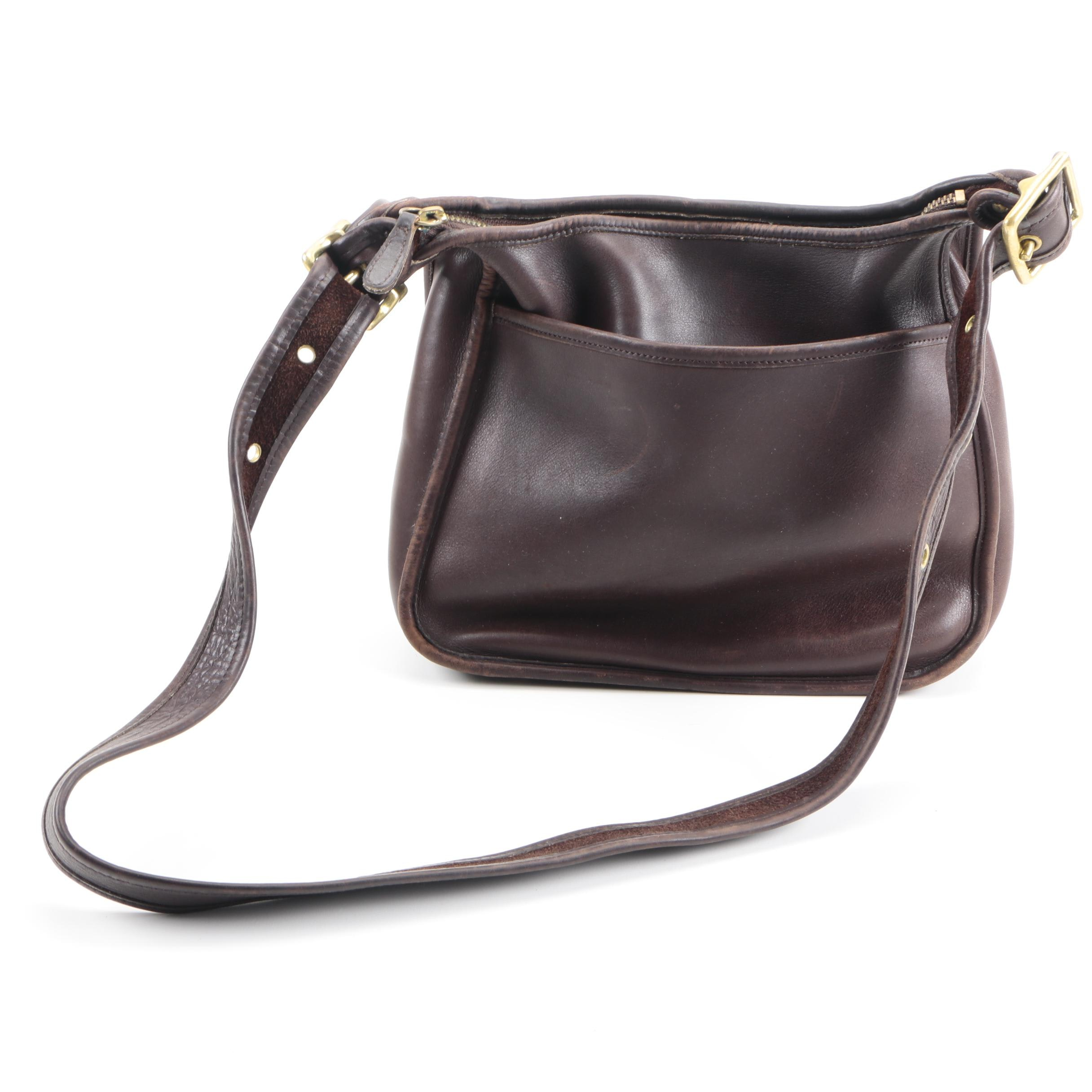 Vintage Coach Legacy Brown Leather Crossbody Messenger