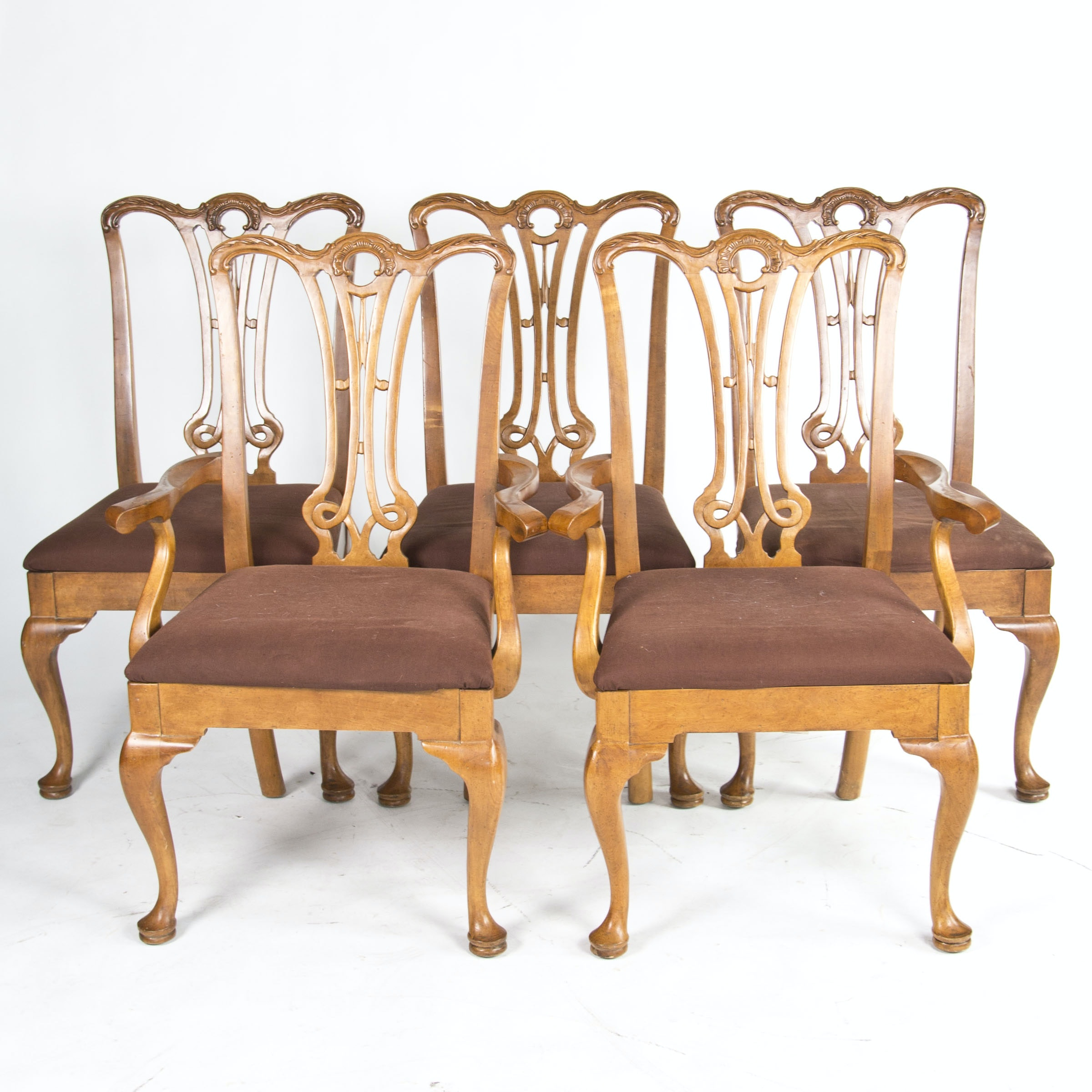 Set of Queen Anne Style Dining Chairs