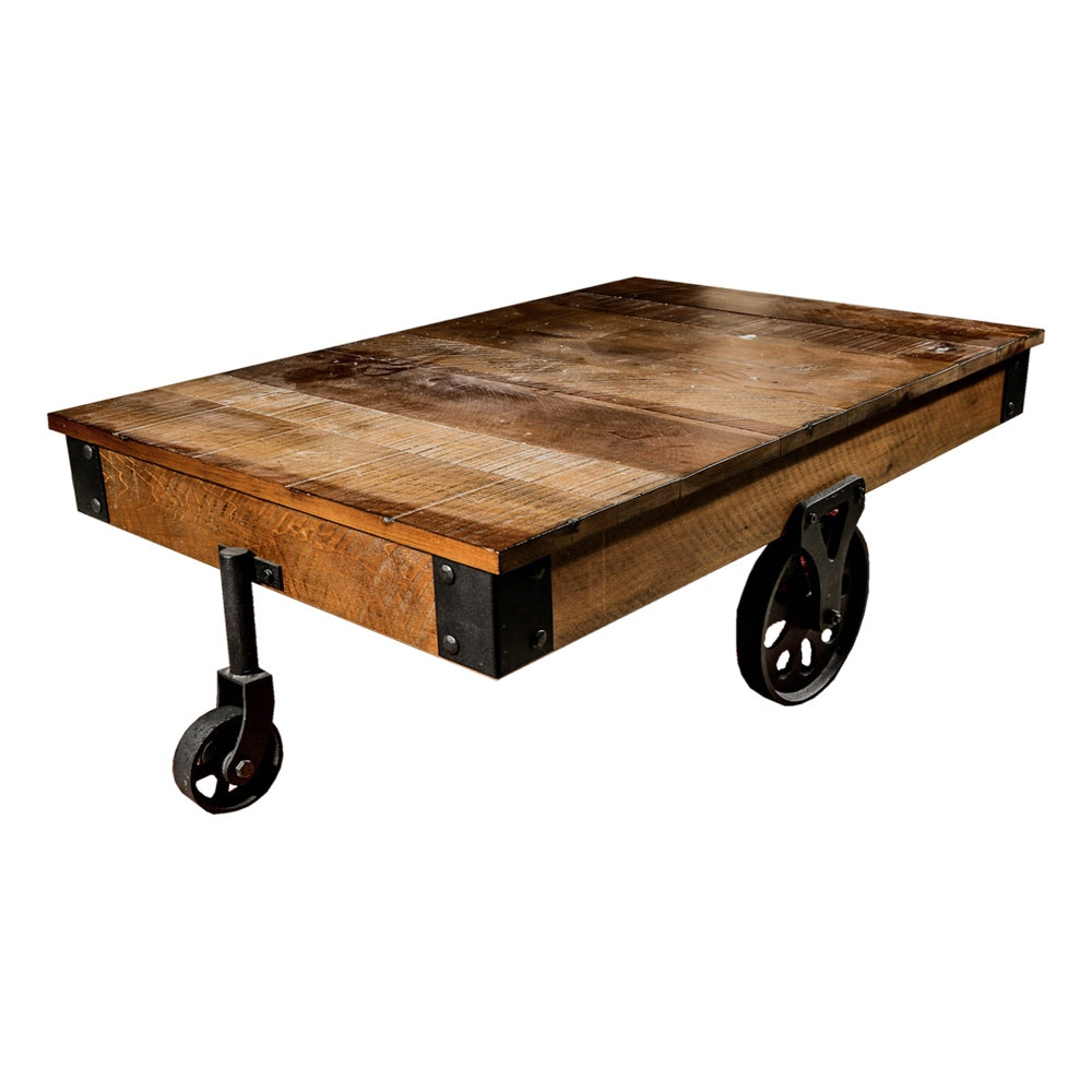 Rustic Cart Coffee Table by Poplar Estate
