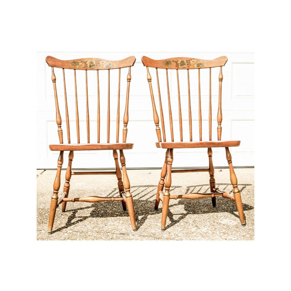 Pair of Windsor Style Chairs by L. Hitchcock