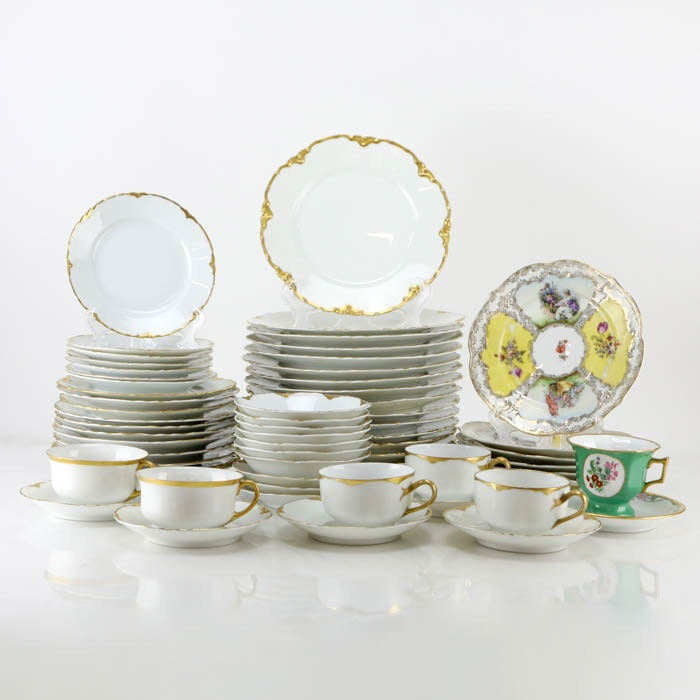 Vintage China Tableware Including Epiag and Haviland Limoges