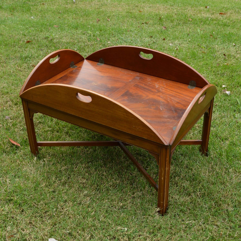 Mahogany Butler Tray Coffee Table by Henredon
