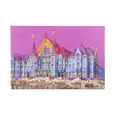"""""""Opening Night of Music Hall 1878"""" Fine Art Giclee by Andrew Van Sickle"""