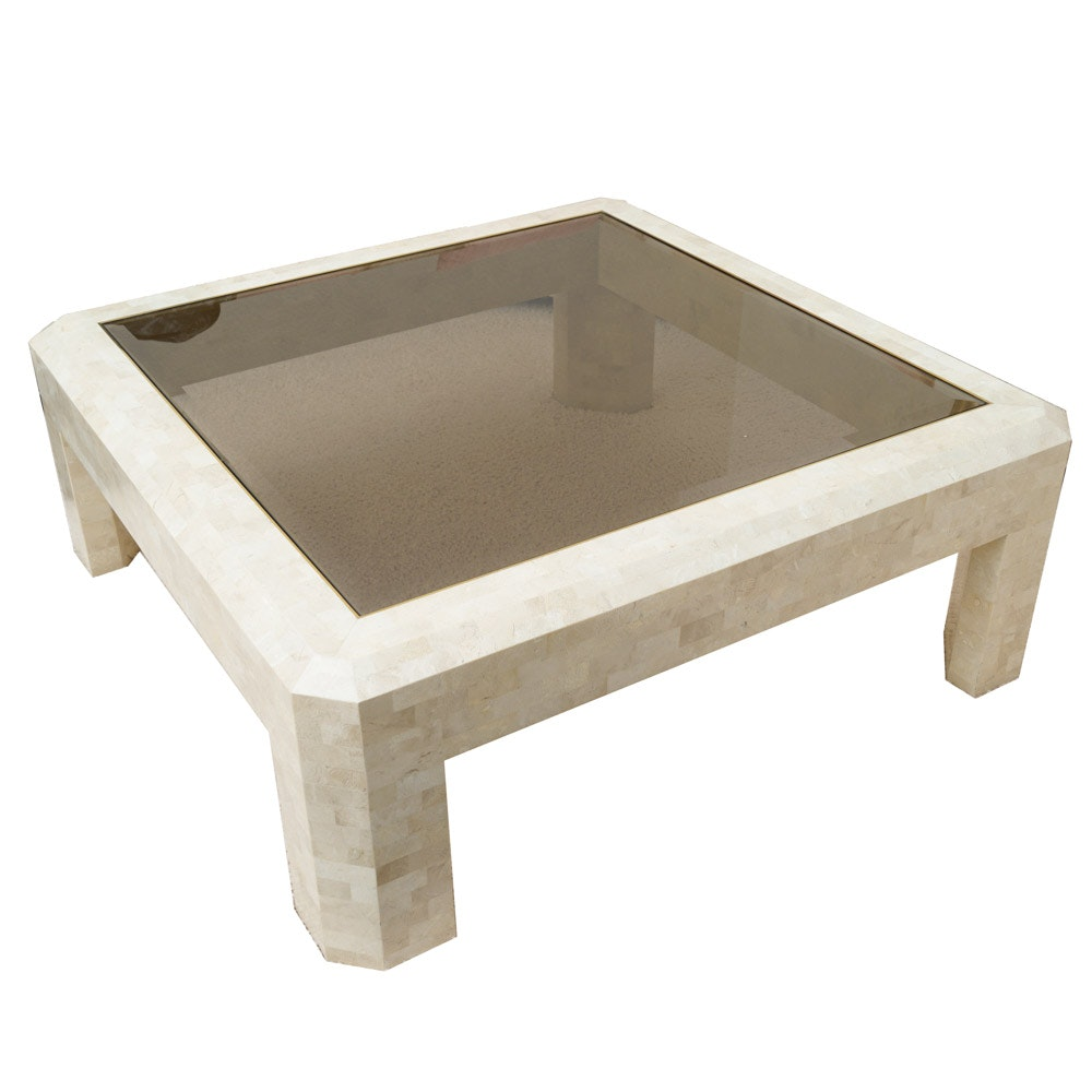 Maitland-Smith Contemporary Glass Topped Coffee Table
