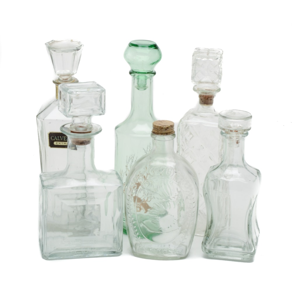Vintage Collectible Glass Decanters and Bottles