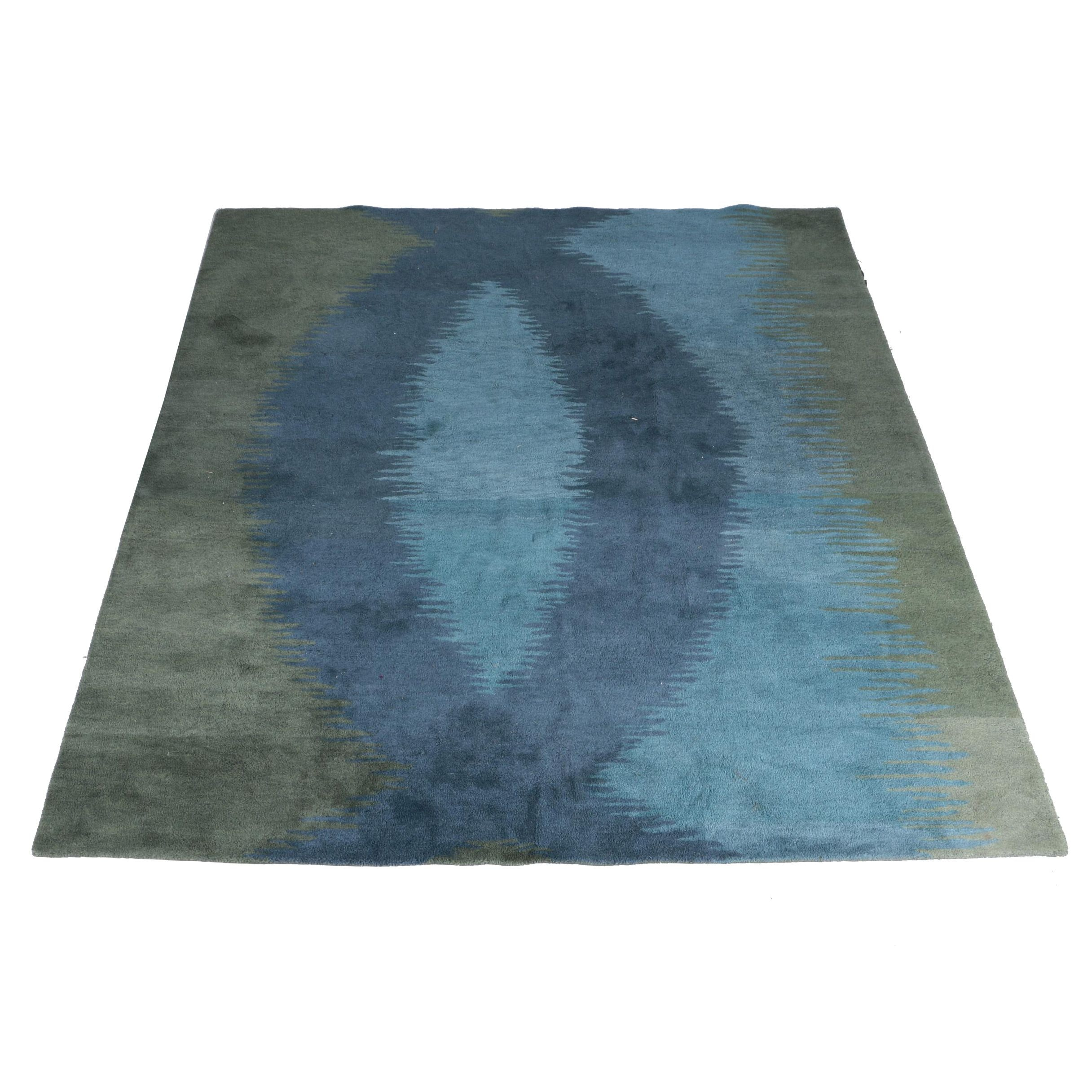 "Machine Made West Elm ""Lagoon"" Area Rug"