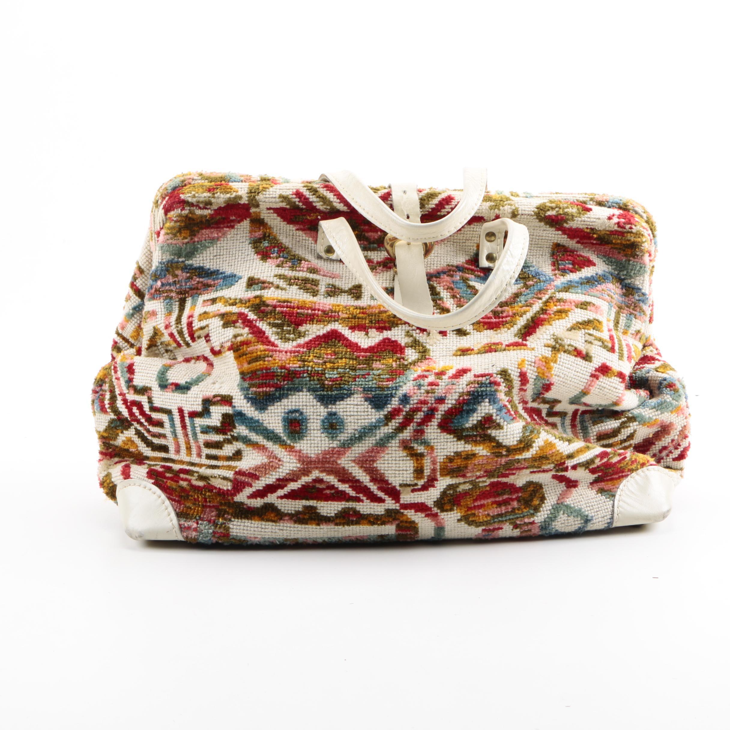 1960s Vintage Lee Stemer Carpet Bag