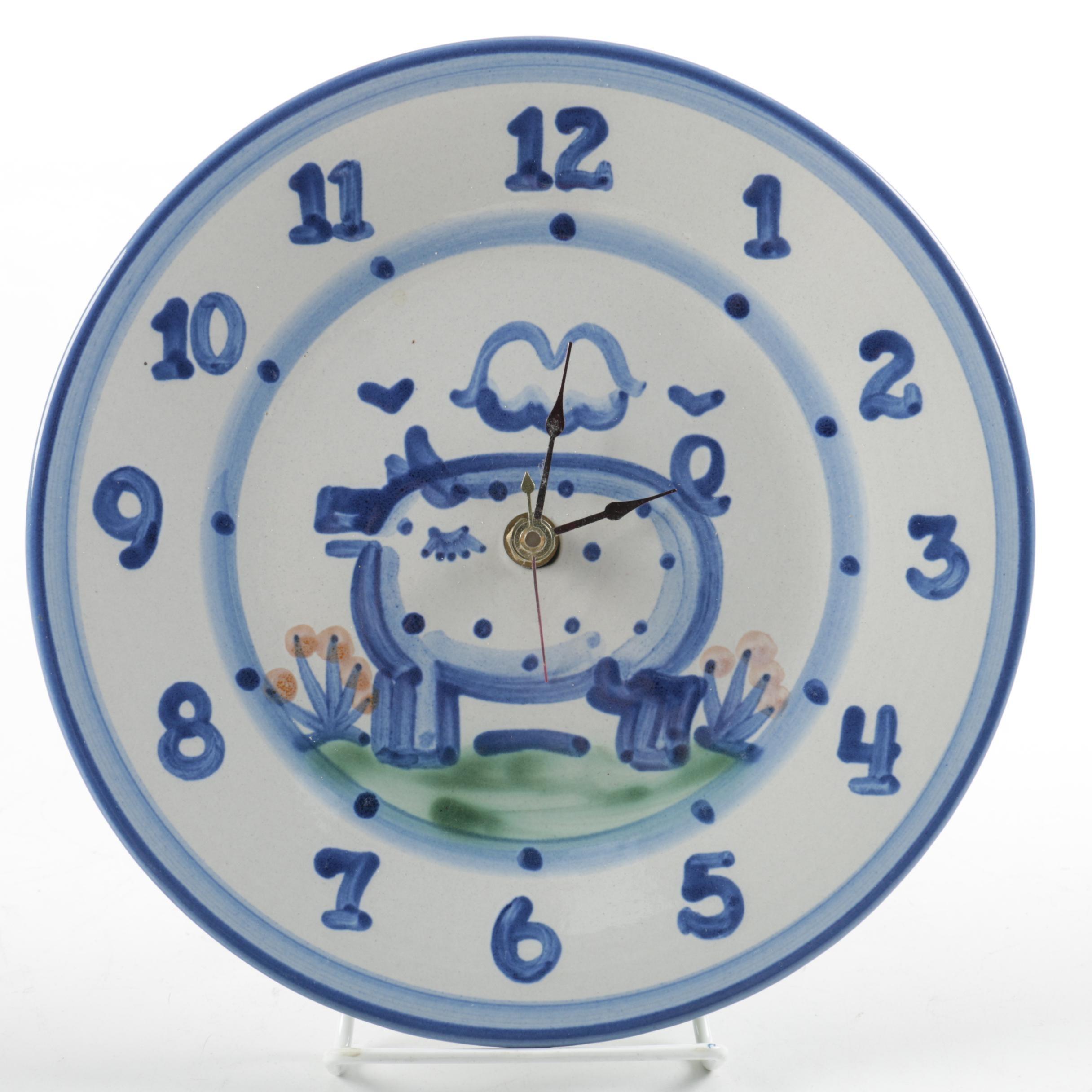 M.A. Hadley Ceramic Plate Wall Clock