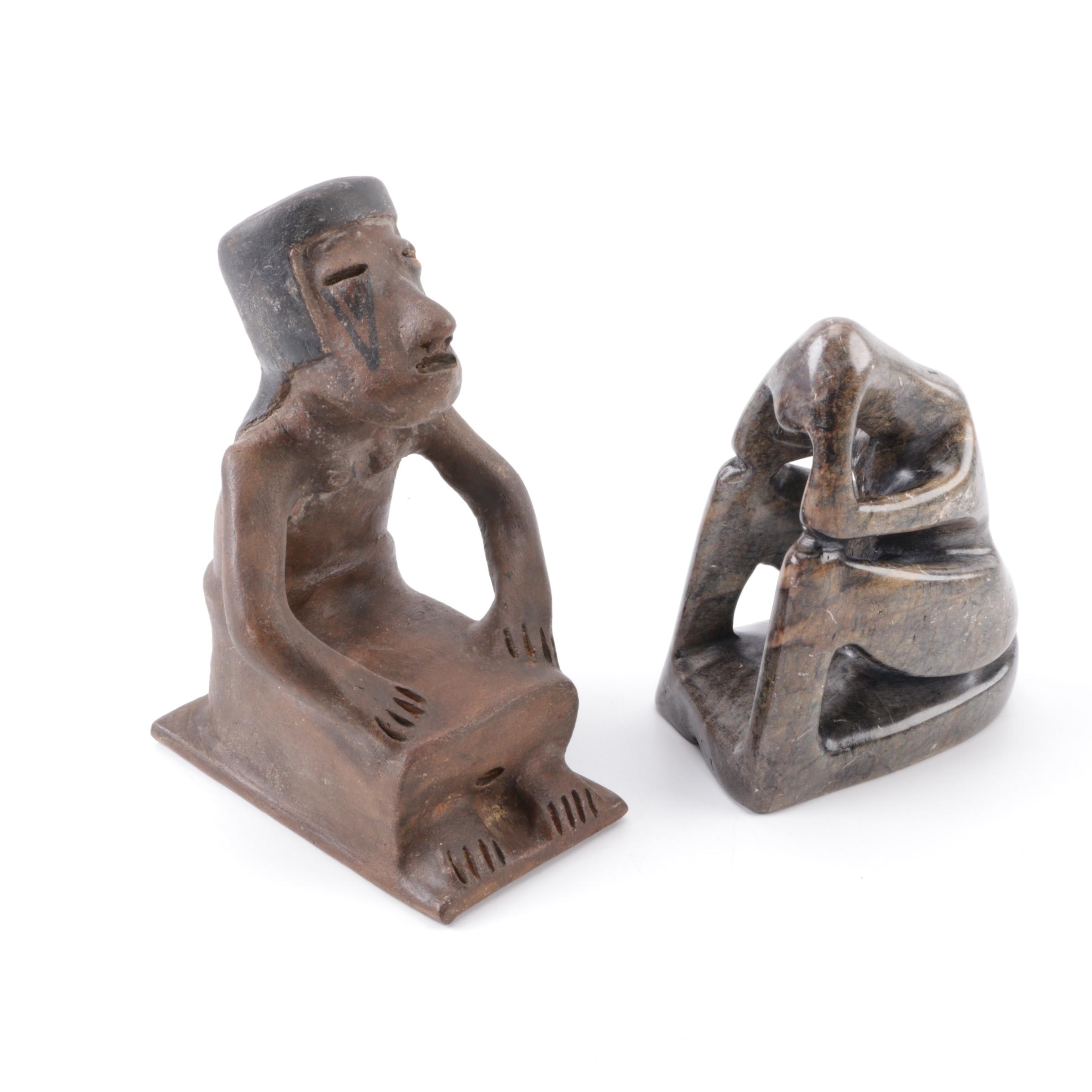 Pair of Seated Figurines