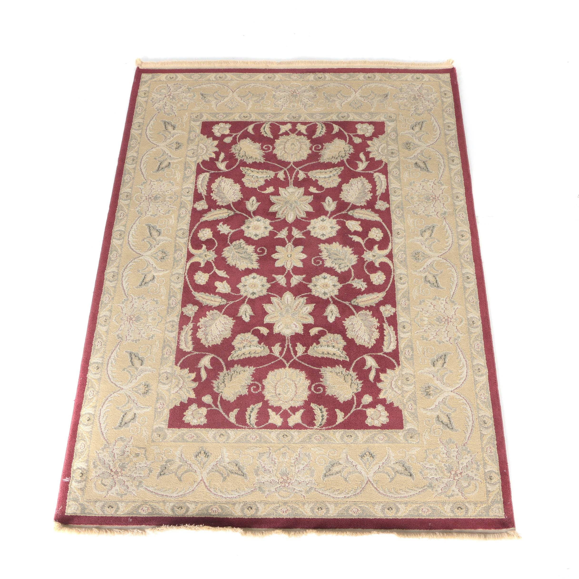 Machine Made Agra Style Area Rug
