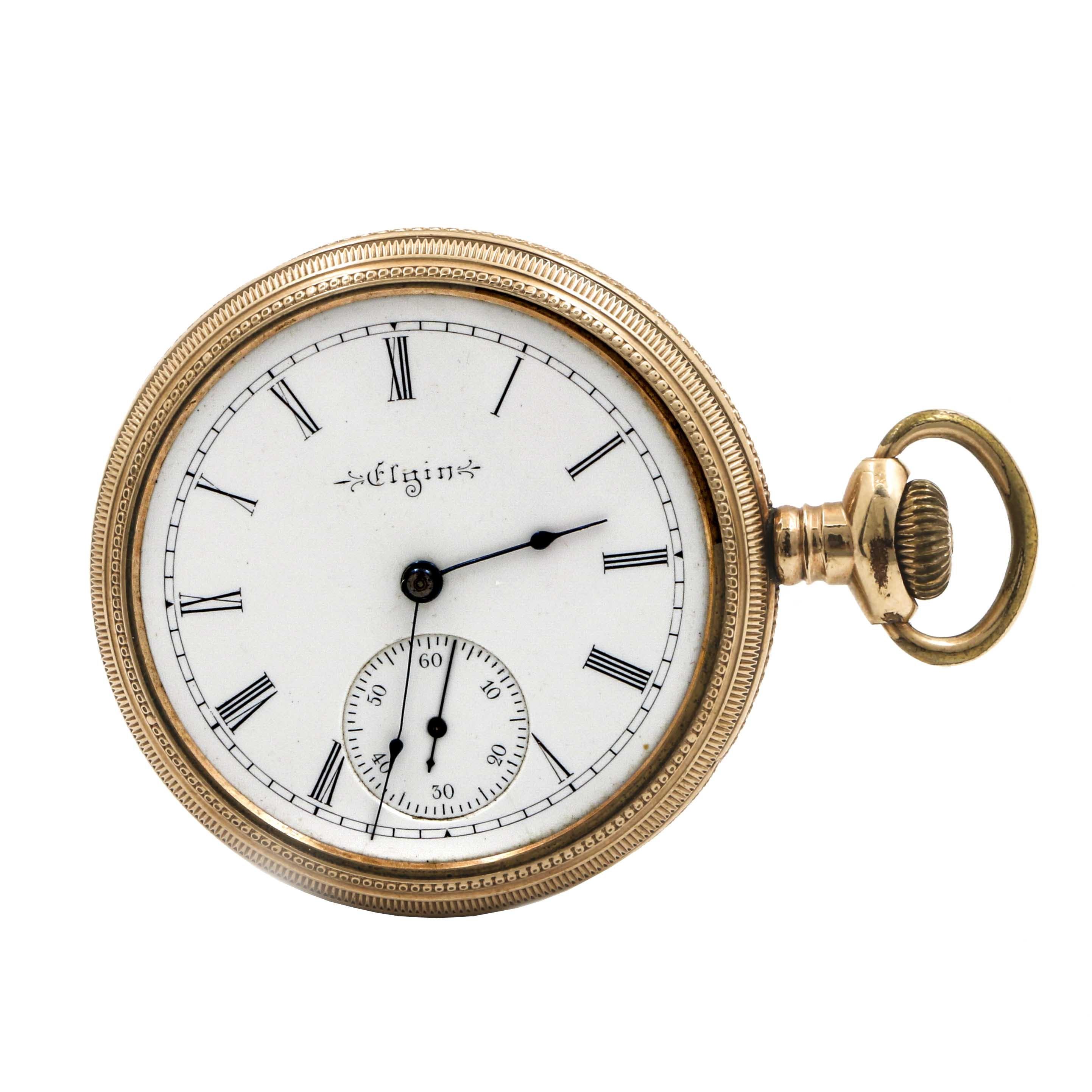 Antique Elgin Sidewinder Pocket Watch
