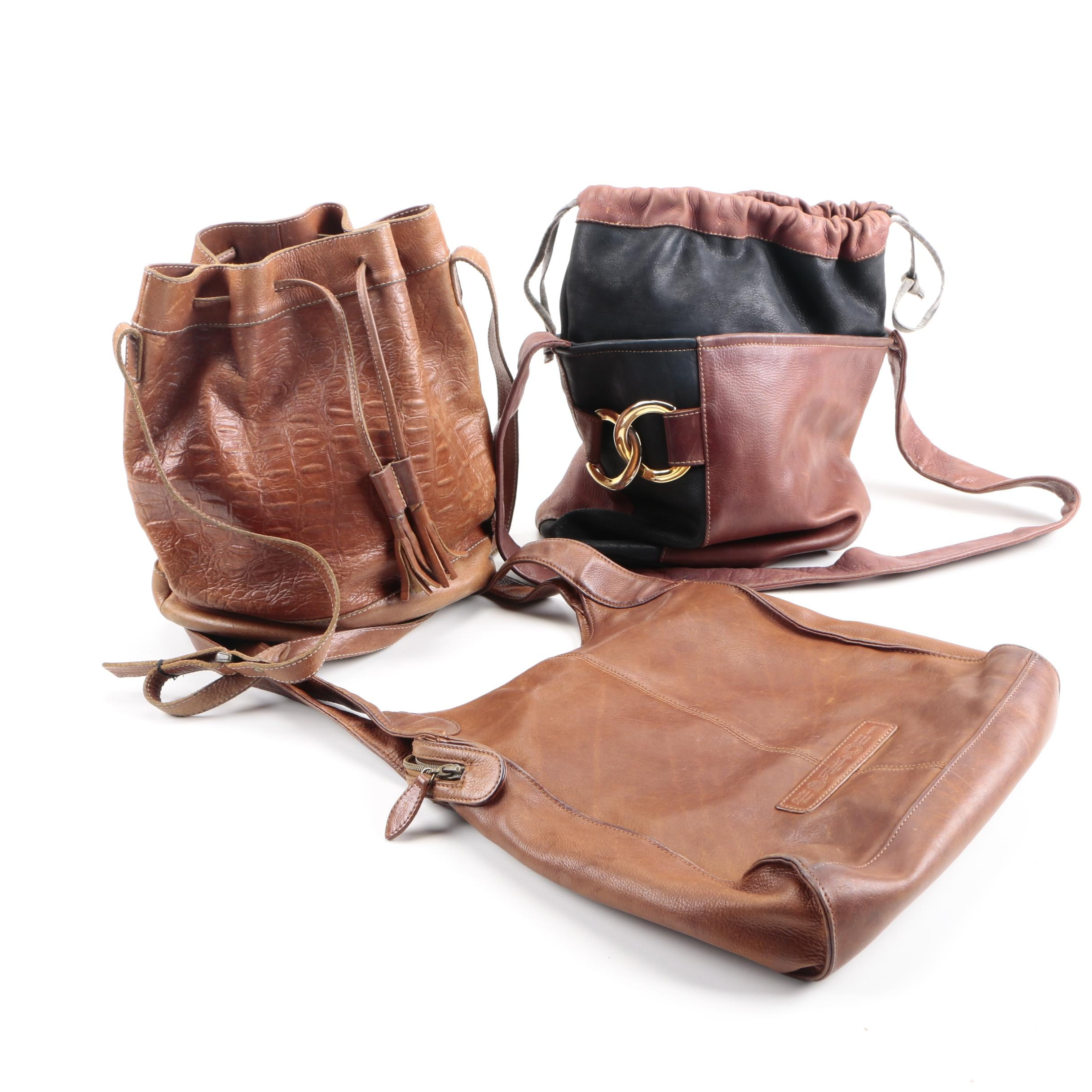 Women's Leather Handbags Including Fossil