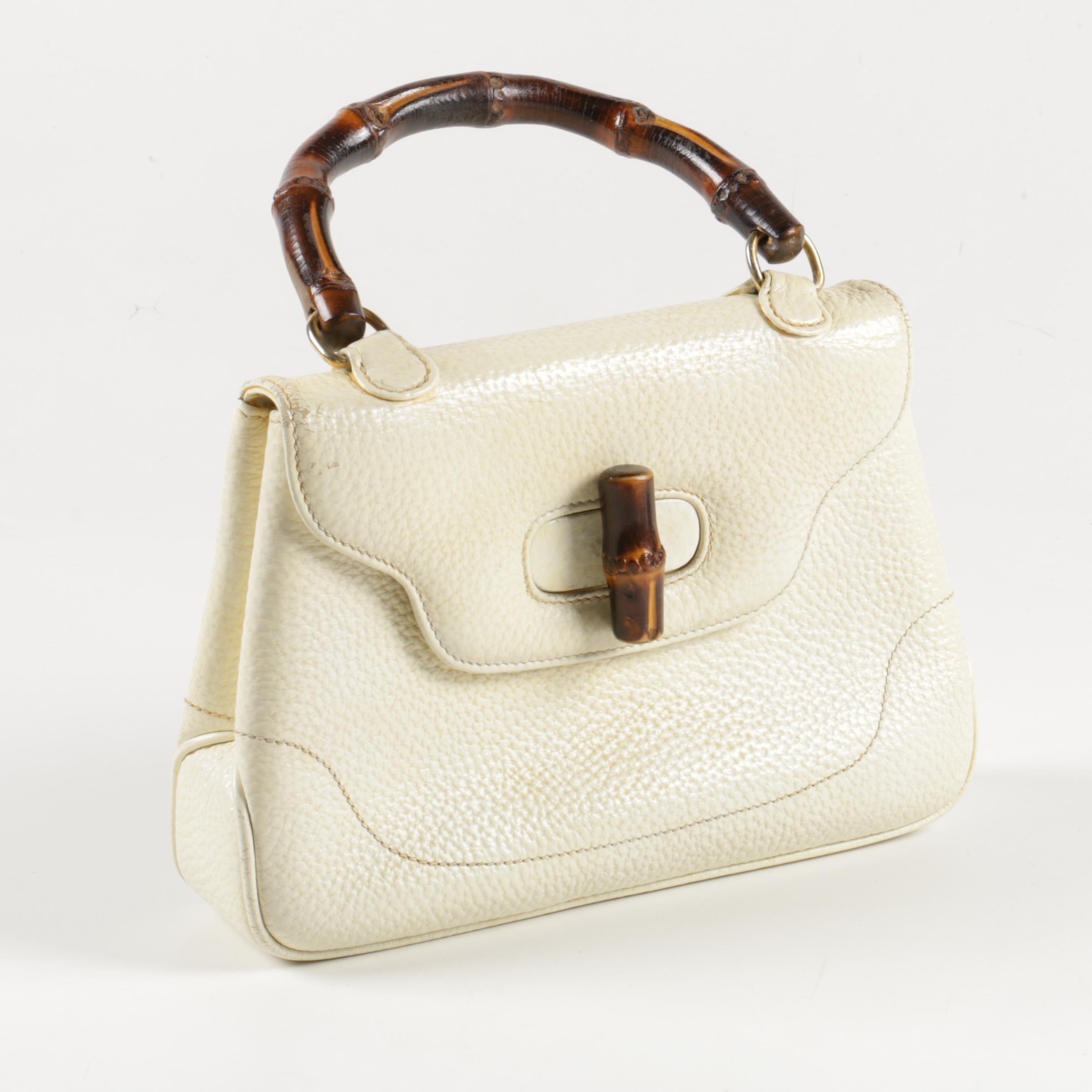 Gucci Cream Leather Handbag