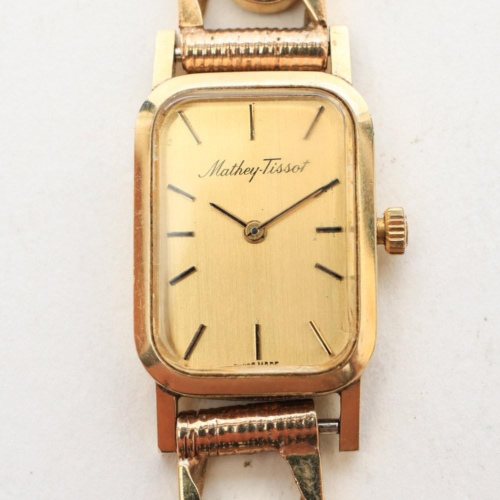Vintage Matthey-Tissot 14K Yellow Gold Wristwatch
