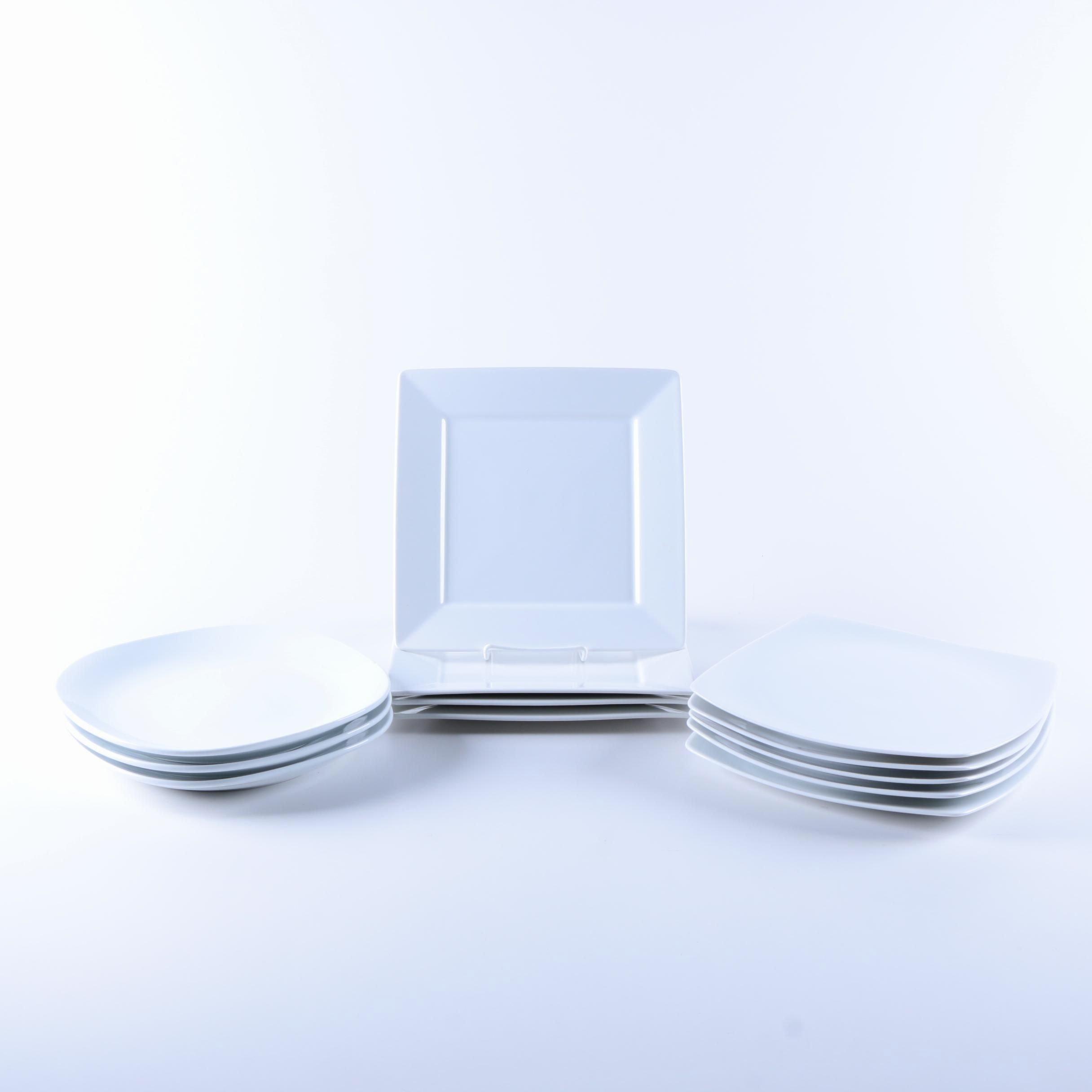 White Porcelain Tableware with Royal Doulton