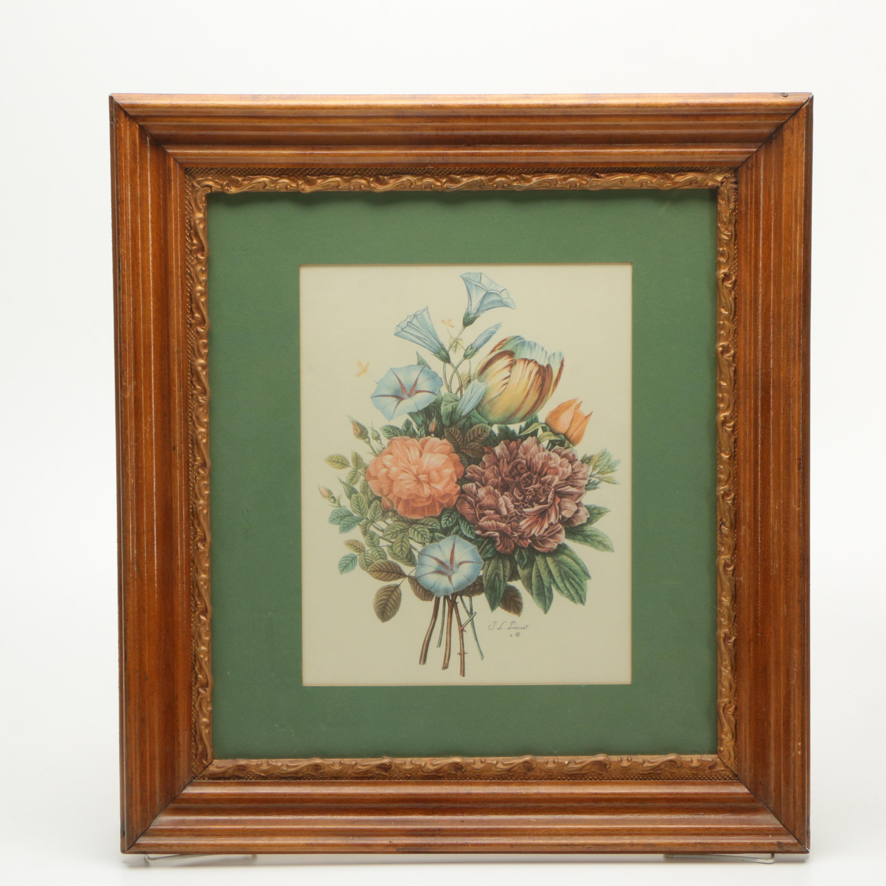 Offset Lithograph After Jean Louis Prevost of a Bouquet