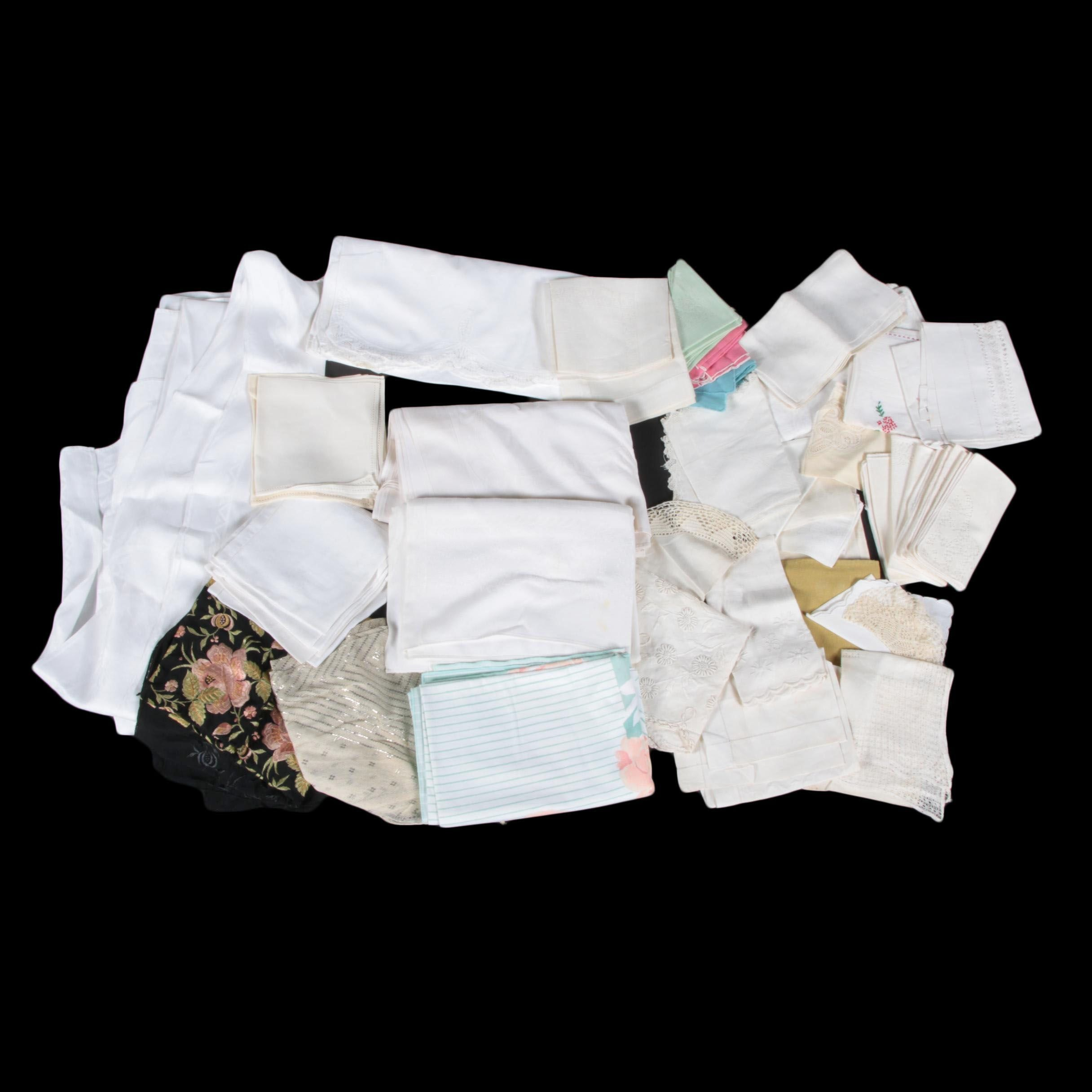 Assortment of Vintage Linens
